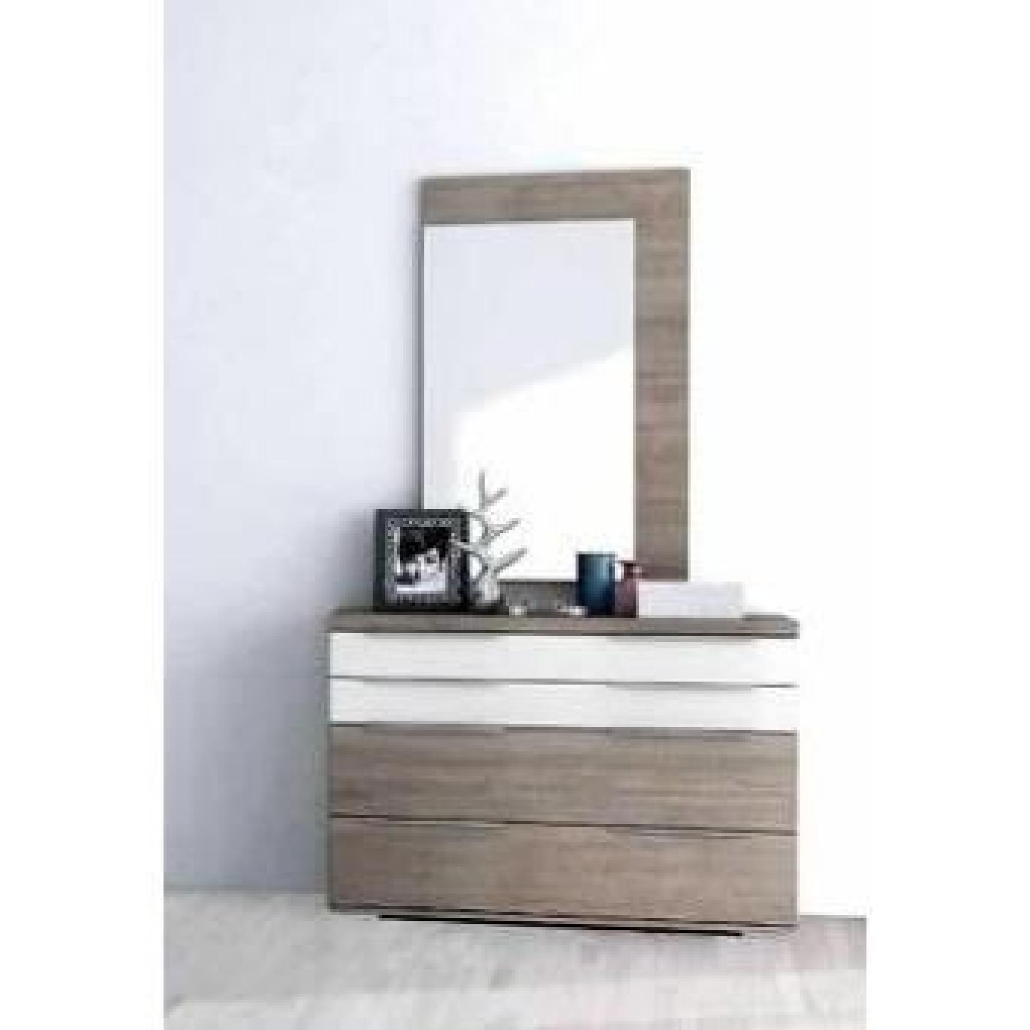 Chambre coucher contemporaine 160 x 190 cm achat vente for Chambre contemporaine design
