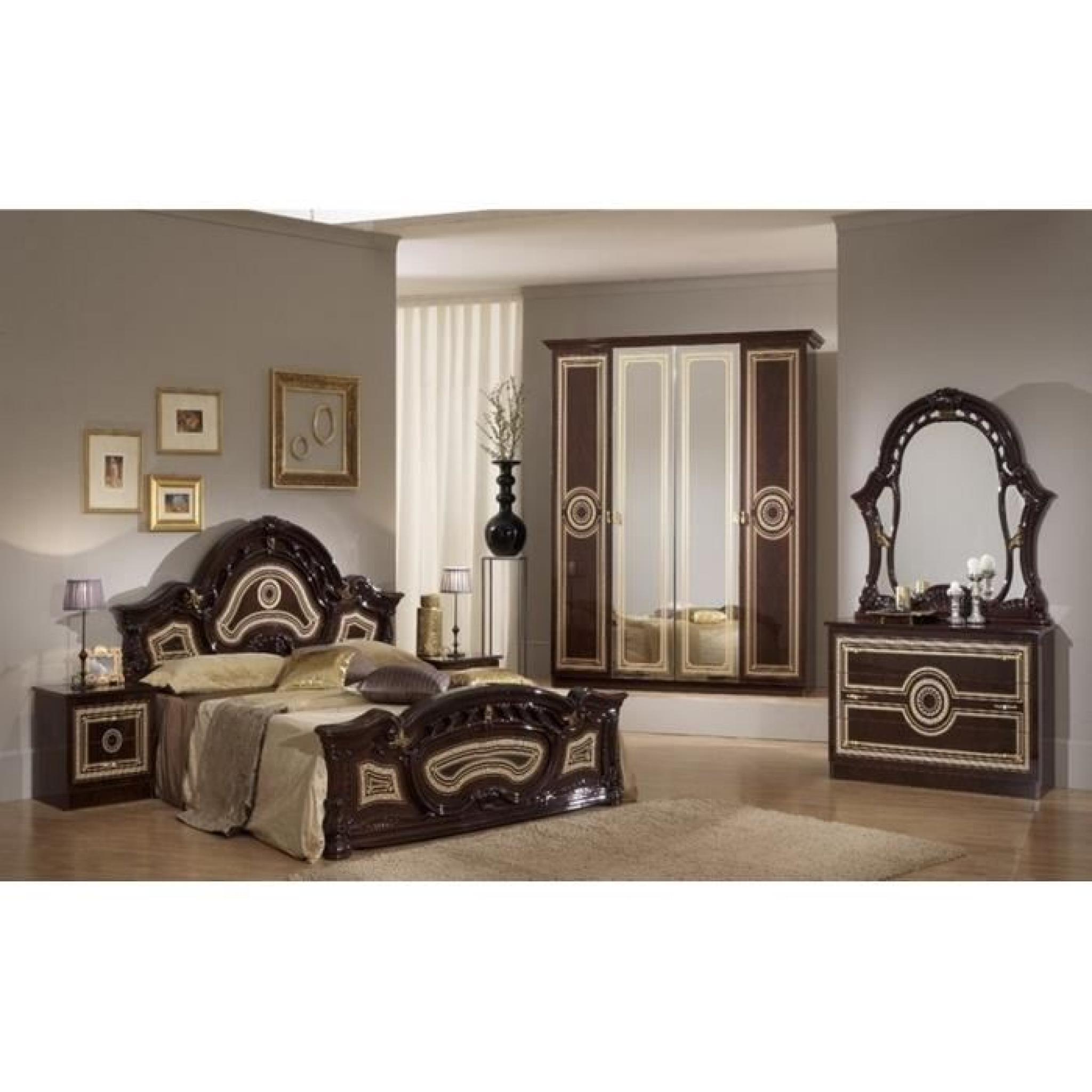 Chambre à coucher model sara (Marron fonce)