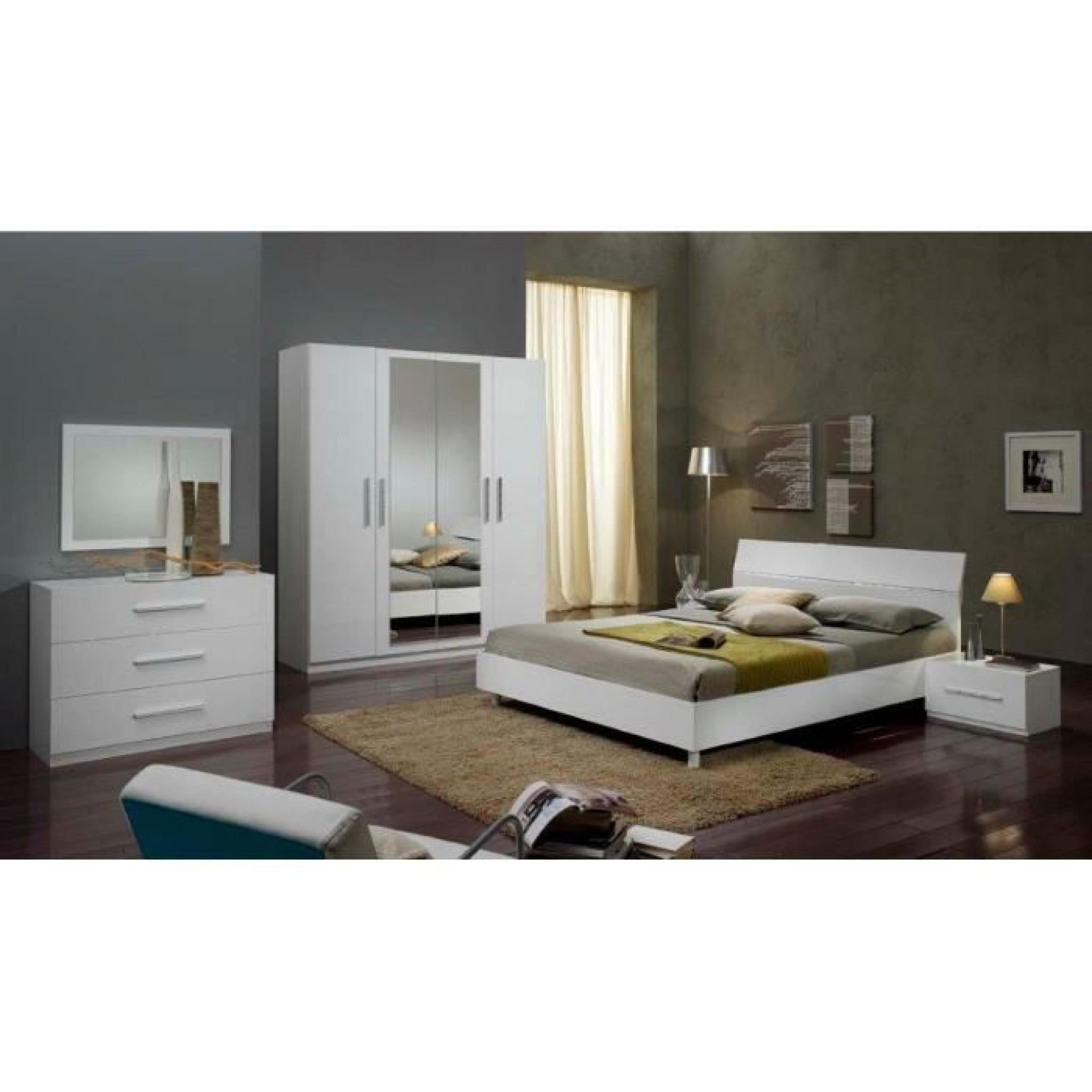 exemple chambre blanche. Black Bedroom Furniture Sets. Home Design Ideas