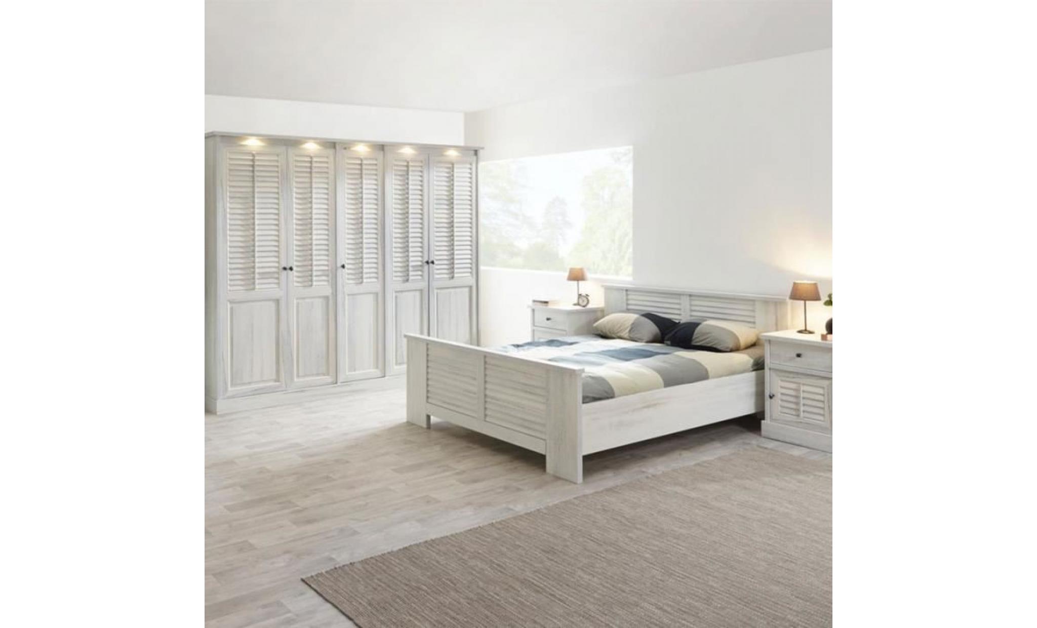 chambre adulte contemporaine arizona l 140 x p 200 cm option 1 l 140 x p  200 cm