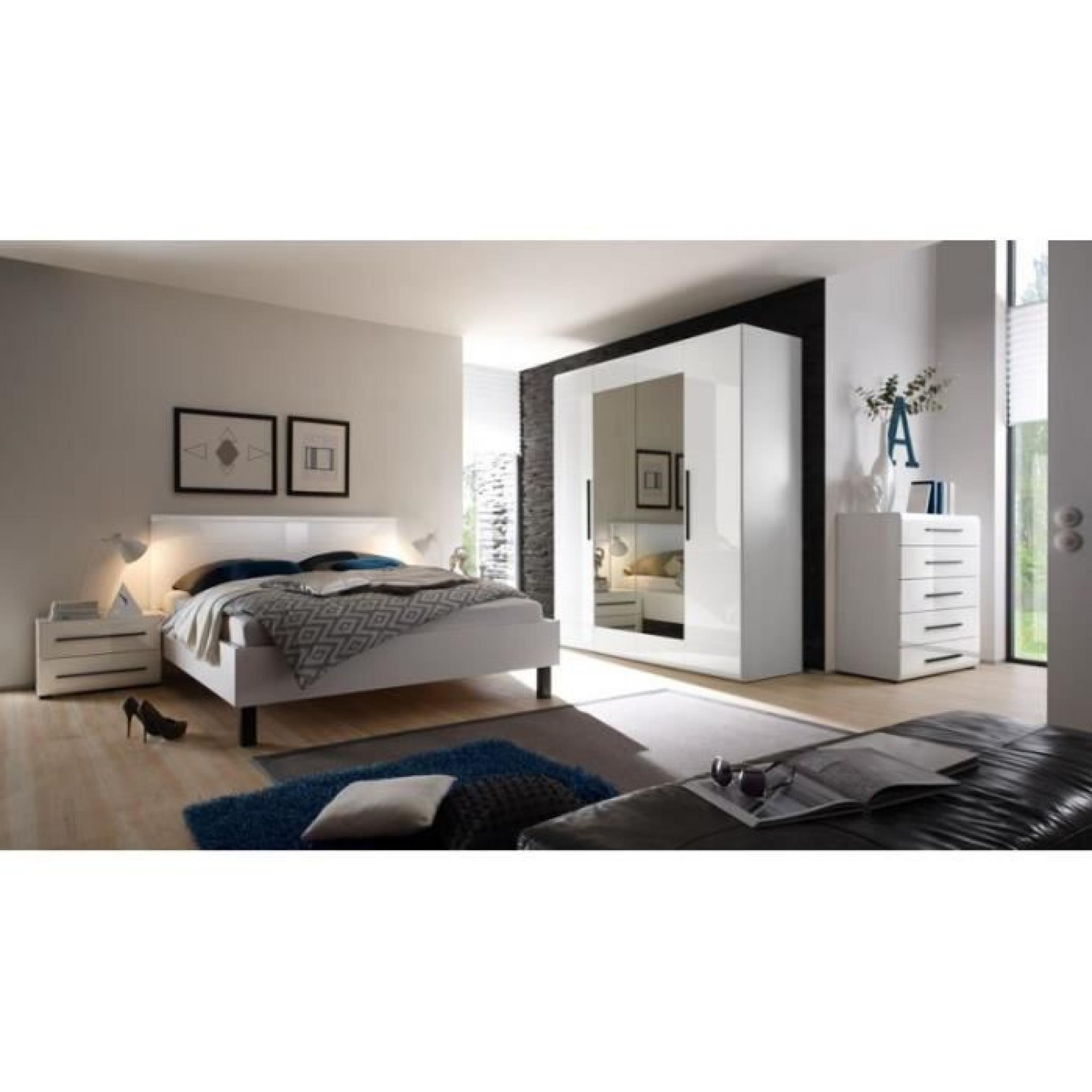 Chambre complete luxe mdf ref harmonya achat vente for Chambre complete pas cher