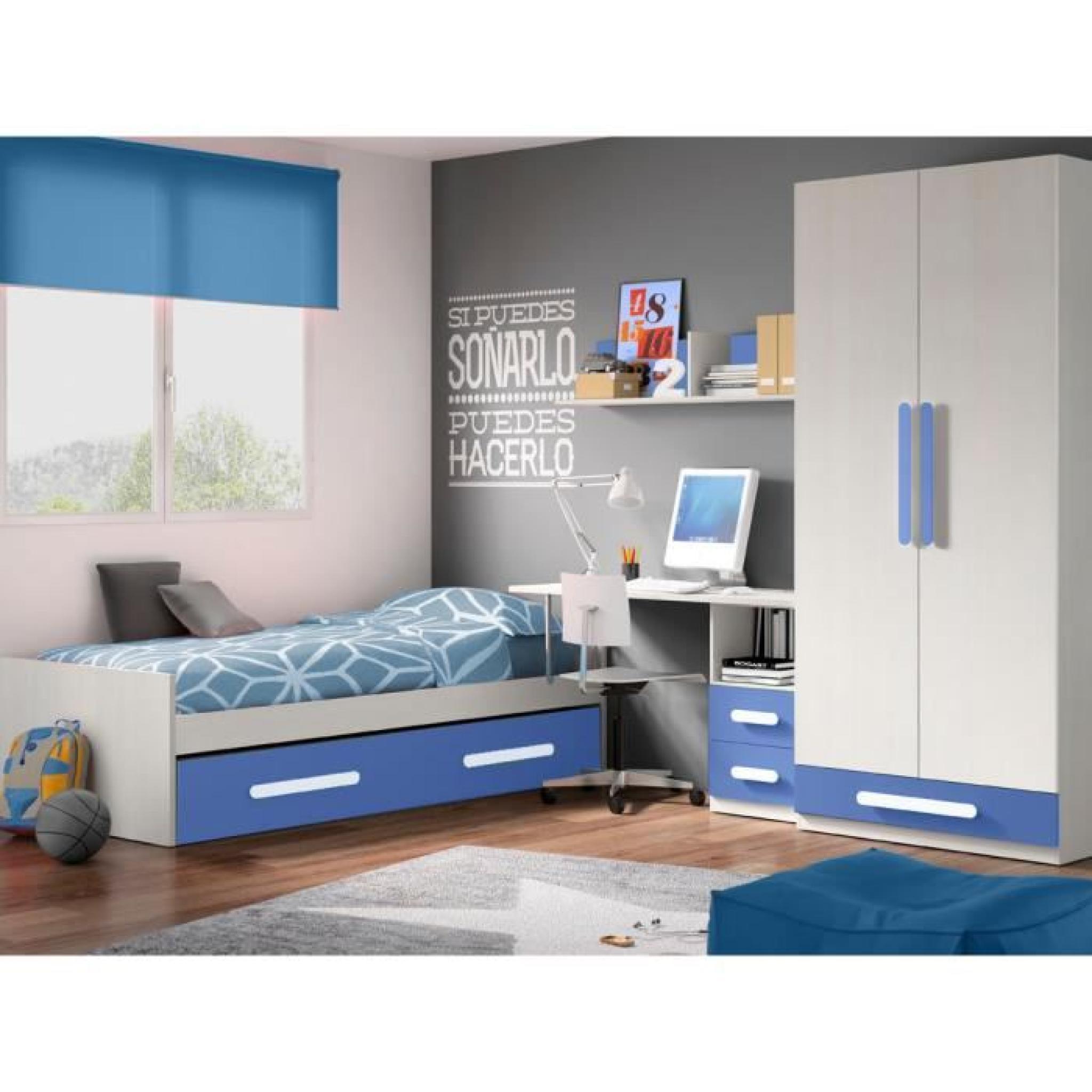 Chambre Enfant Complète DECO 317 Blanc/ Lilas - Achat/Vente chambre ...