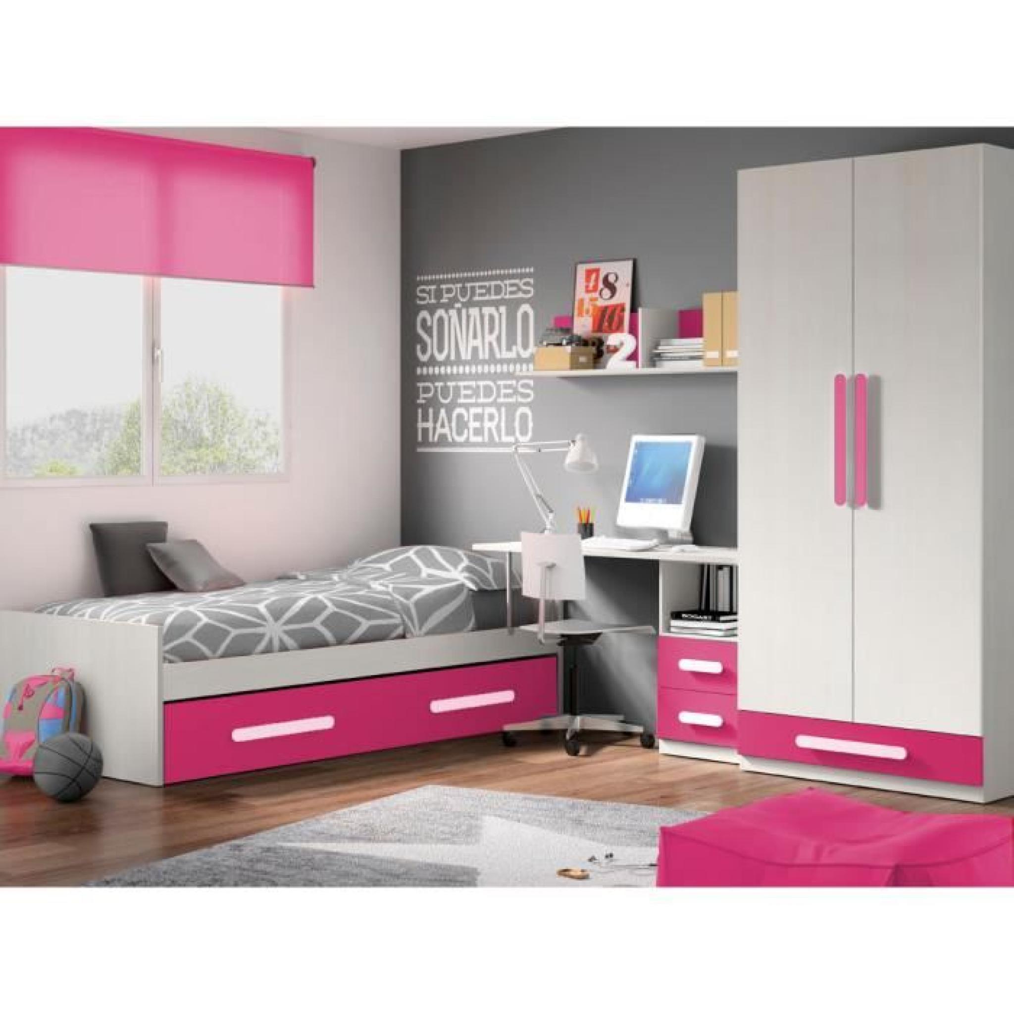 chambre enfant compl te deco 317 blanc rose achat vente chambre complete pas cher couleur et. Black Bedroom Furniture Sets. Home Design Ideas