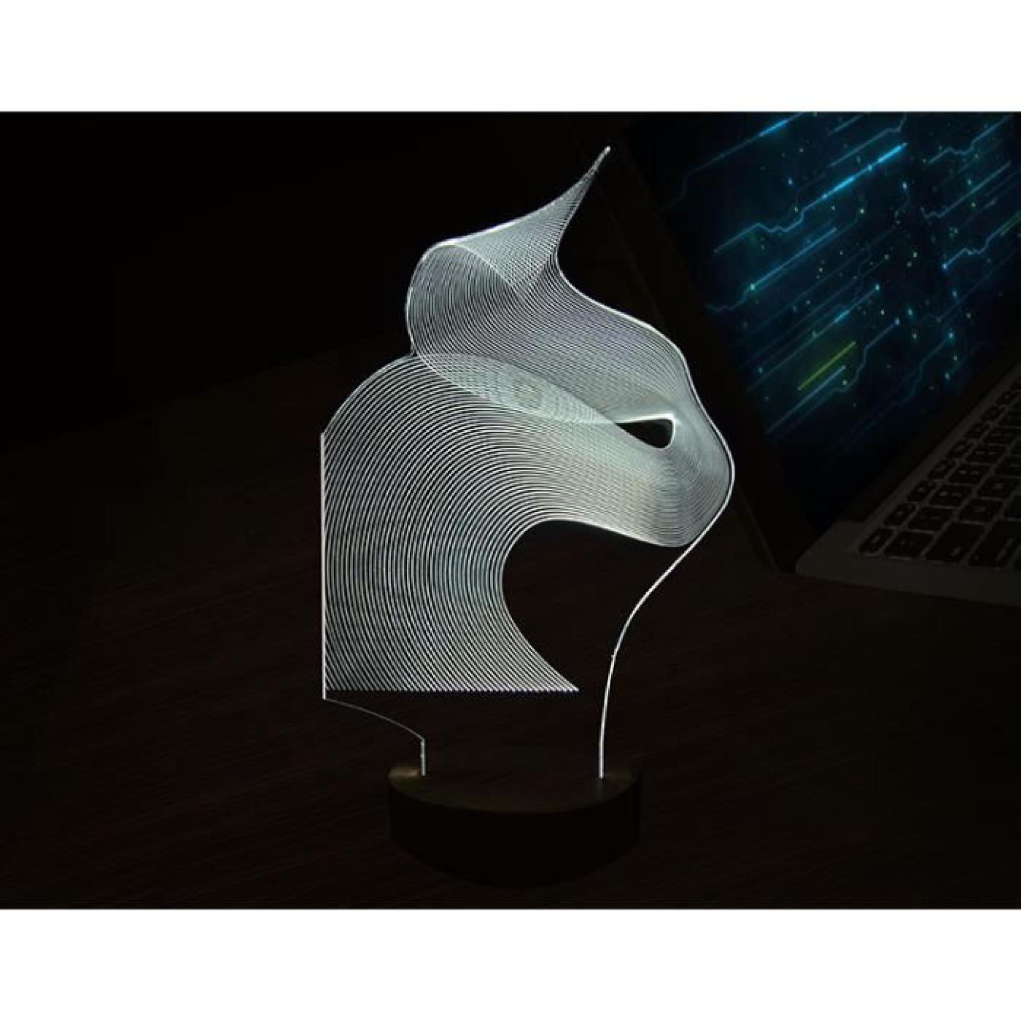 3d Table Veilleuse Chat Minimaliste Créative De Bois Stéréoscopique Lampe Led Abstraite uOiXZkP