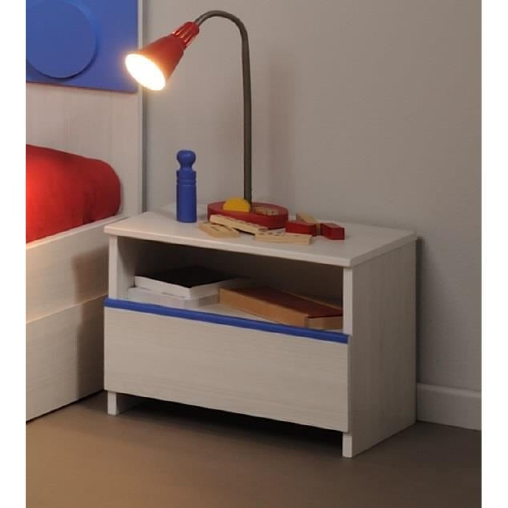 chevet 1 tiroir en bois fr ne nordique yann achat vente table de chevet pas cher couleur et. Black Bedroom Furniture Sets. Home Design Ideas