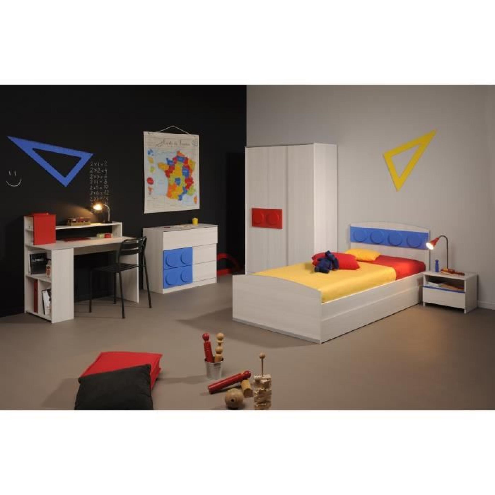 chevet 1 tiroir en bois fr ne nordique yann achat vente. Black Bedroom Furniture Sets. Home Design Ideas