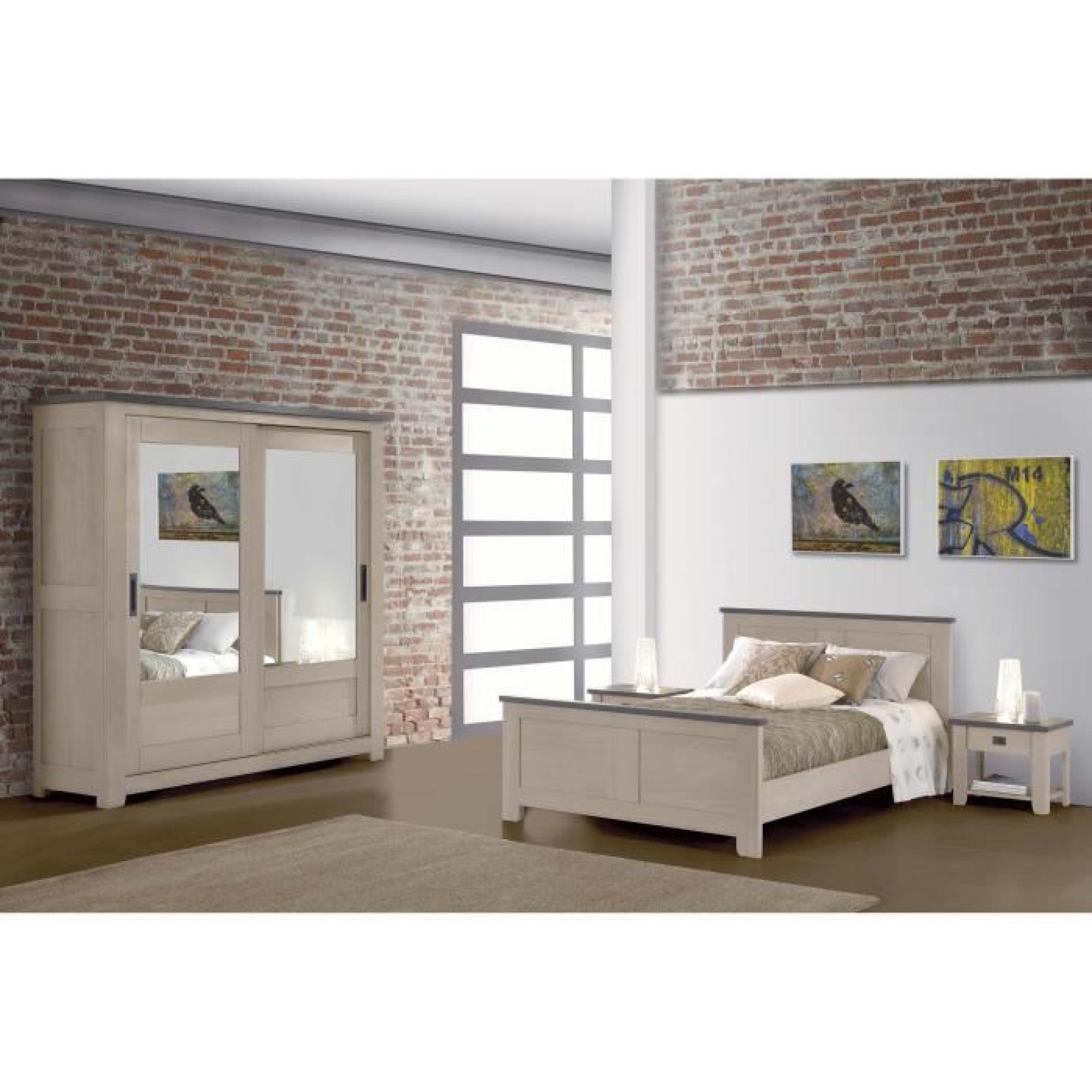 chevet houston 1tiroir 1niche achat vente table de chevet pas cher couleur et. Black Bedroom Furniture Sets. Home Design Ideas