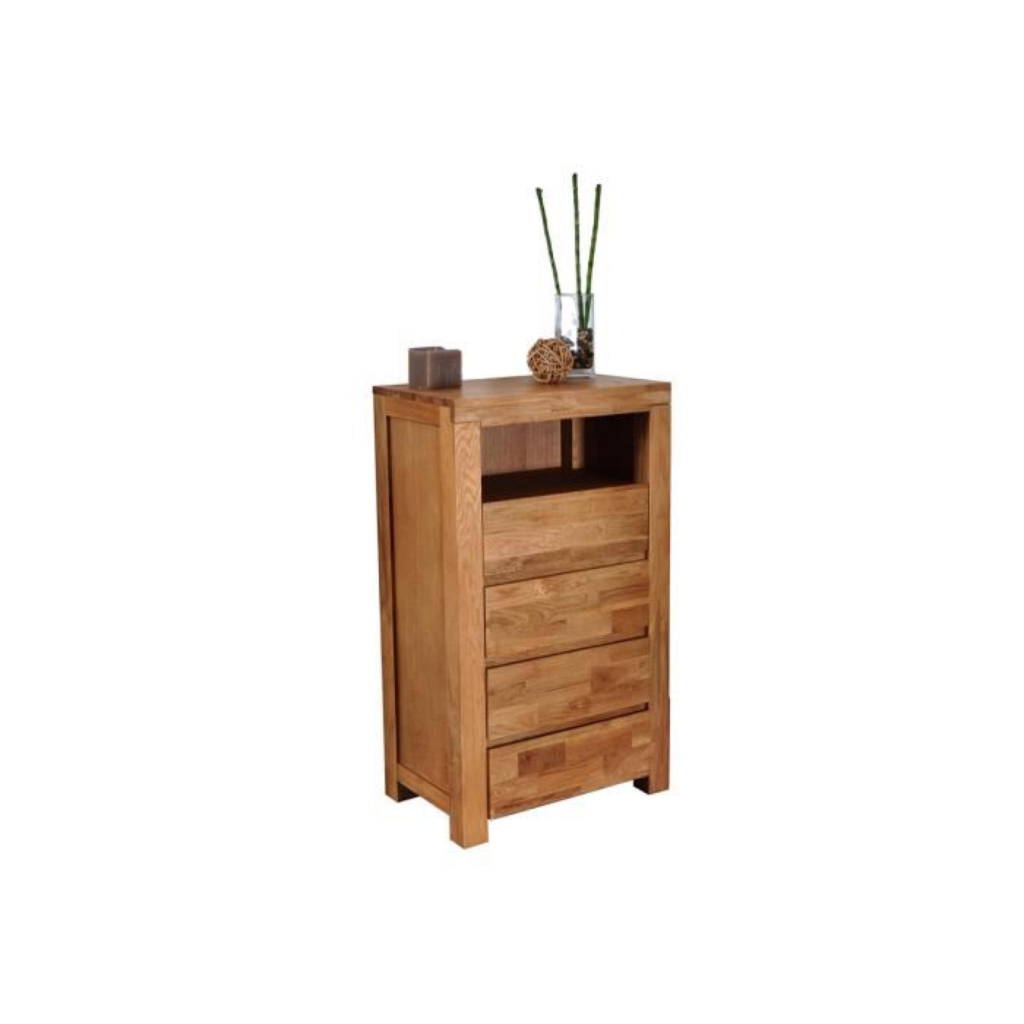 chiffonnier 4 tiroirs ch ne clair tiny achat vente commode pas cher couleur et. Black Bedroom Furniture Sets. Home Design Ideas