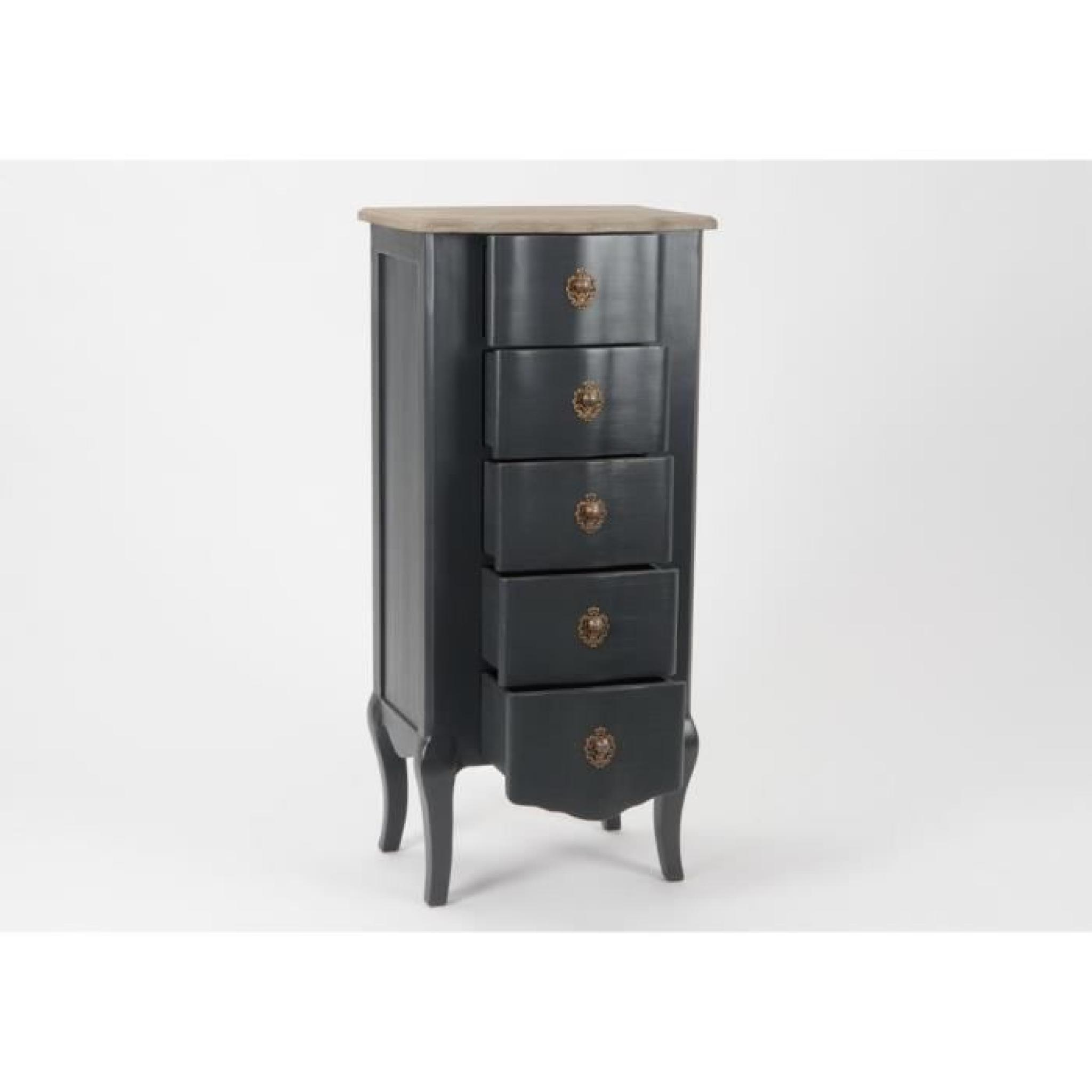 chiffonnier noir c lestine amadeus achat vente commode pas cher couleur et. Black Bedroom Furniture Sets. Home Design Ideas