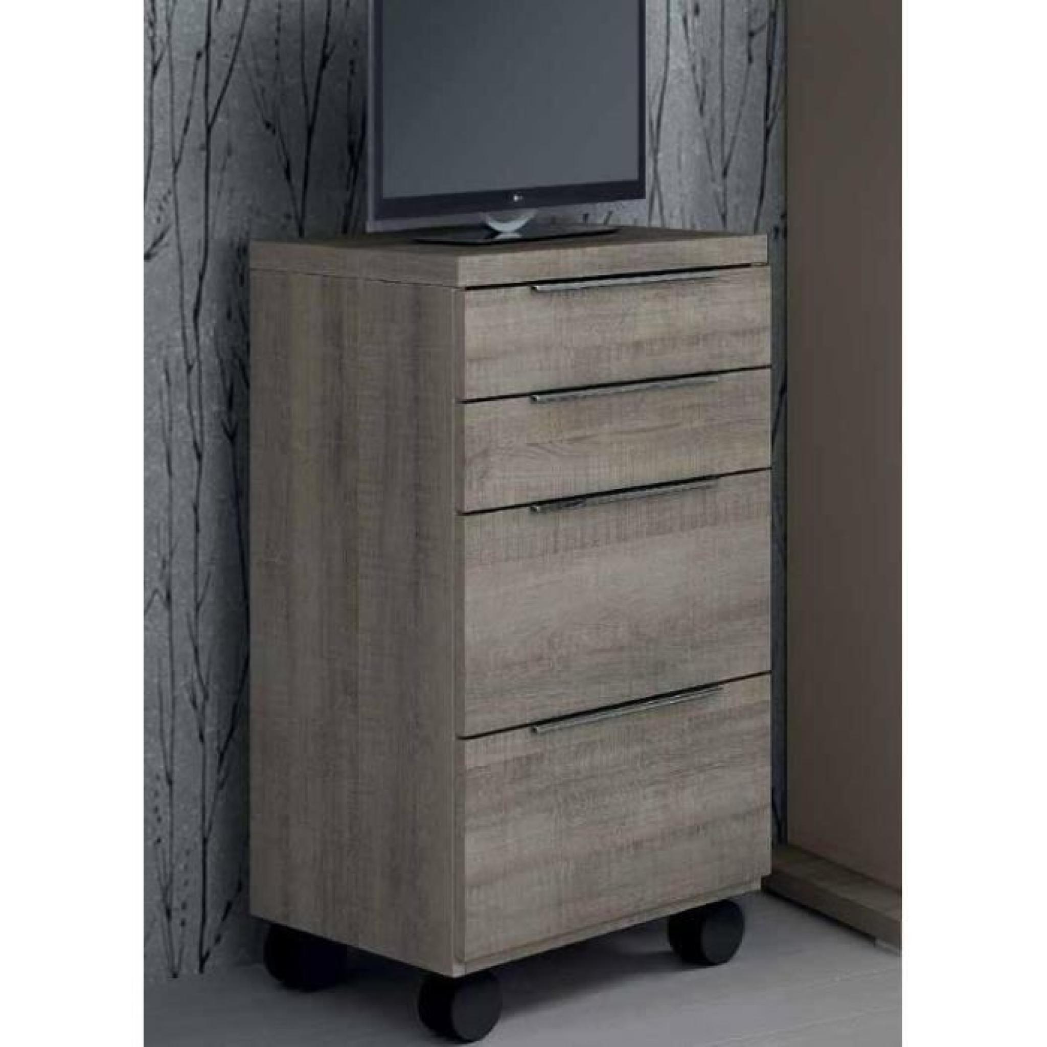 chiffonnier sur roulette 4 tiroirs achat vente commode pas cher couleur et. Black Bedroom Furniture Sets. Home Design Ideas