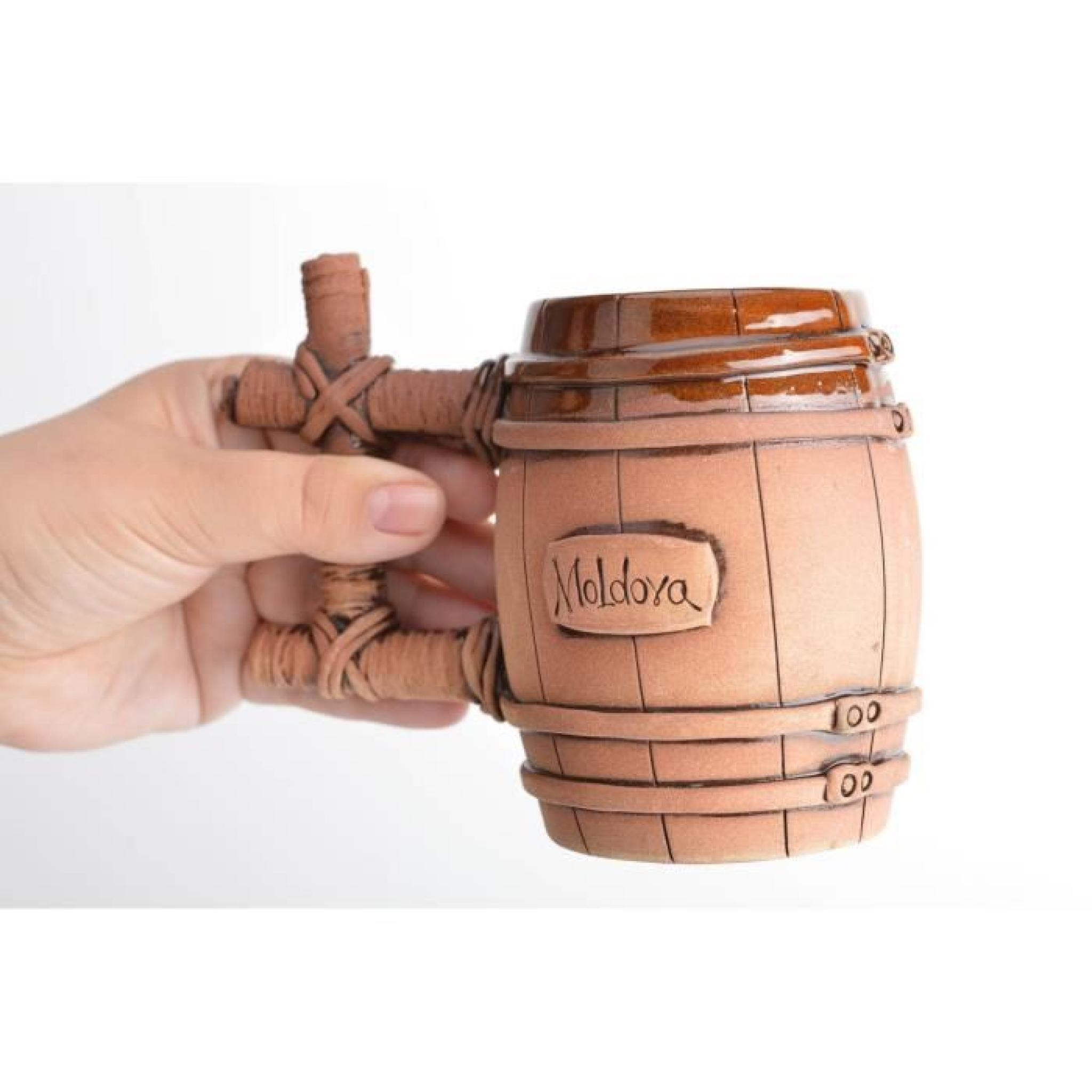 Chope tonneau en terre cuite faite main couverte - Achat Vente ... cec8613484f9