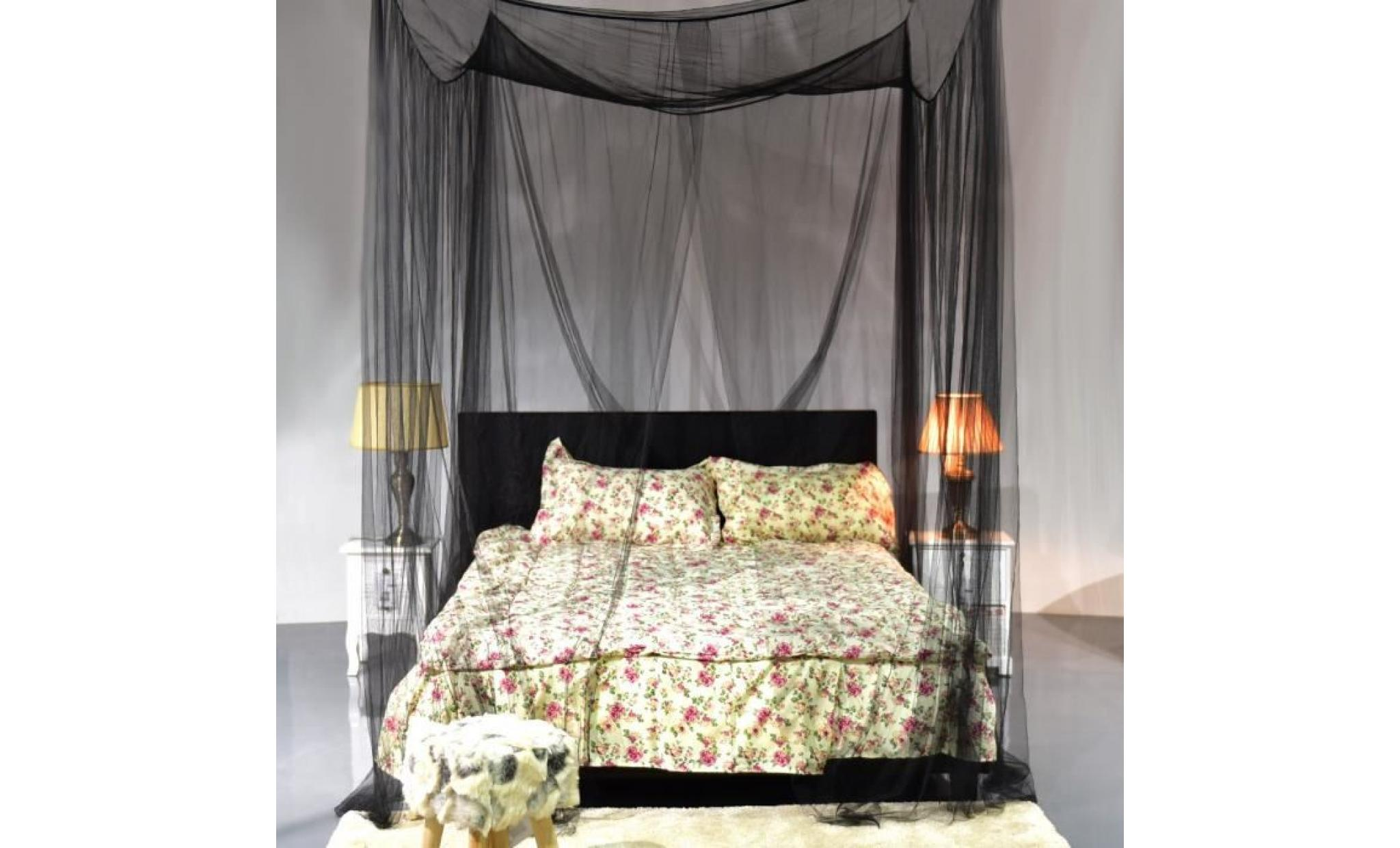 ciel de lit moustiquaire 4coins protection complet reine prince insecte achat vente chambre. Black Bedroom Furniture Sets. Home Design Ideas
