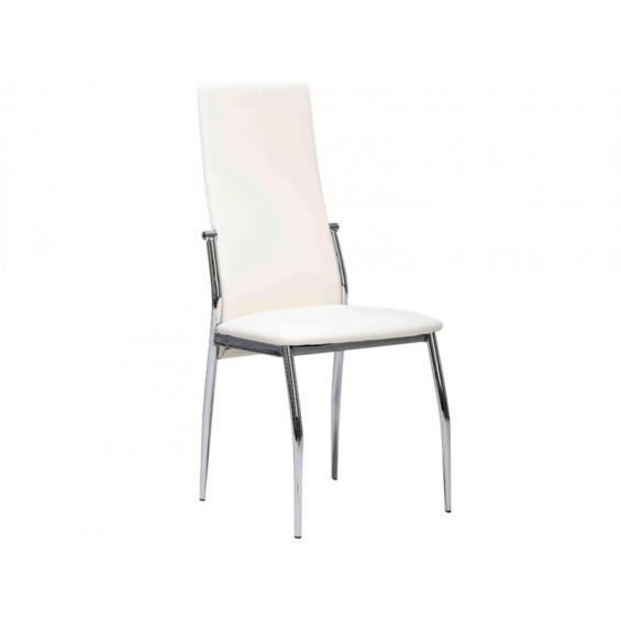 city lot 6 chaises blanches achat vente chaise salle a. Black Bedroom Furniture Sets. Home Design Ideas