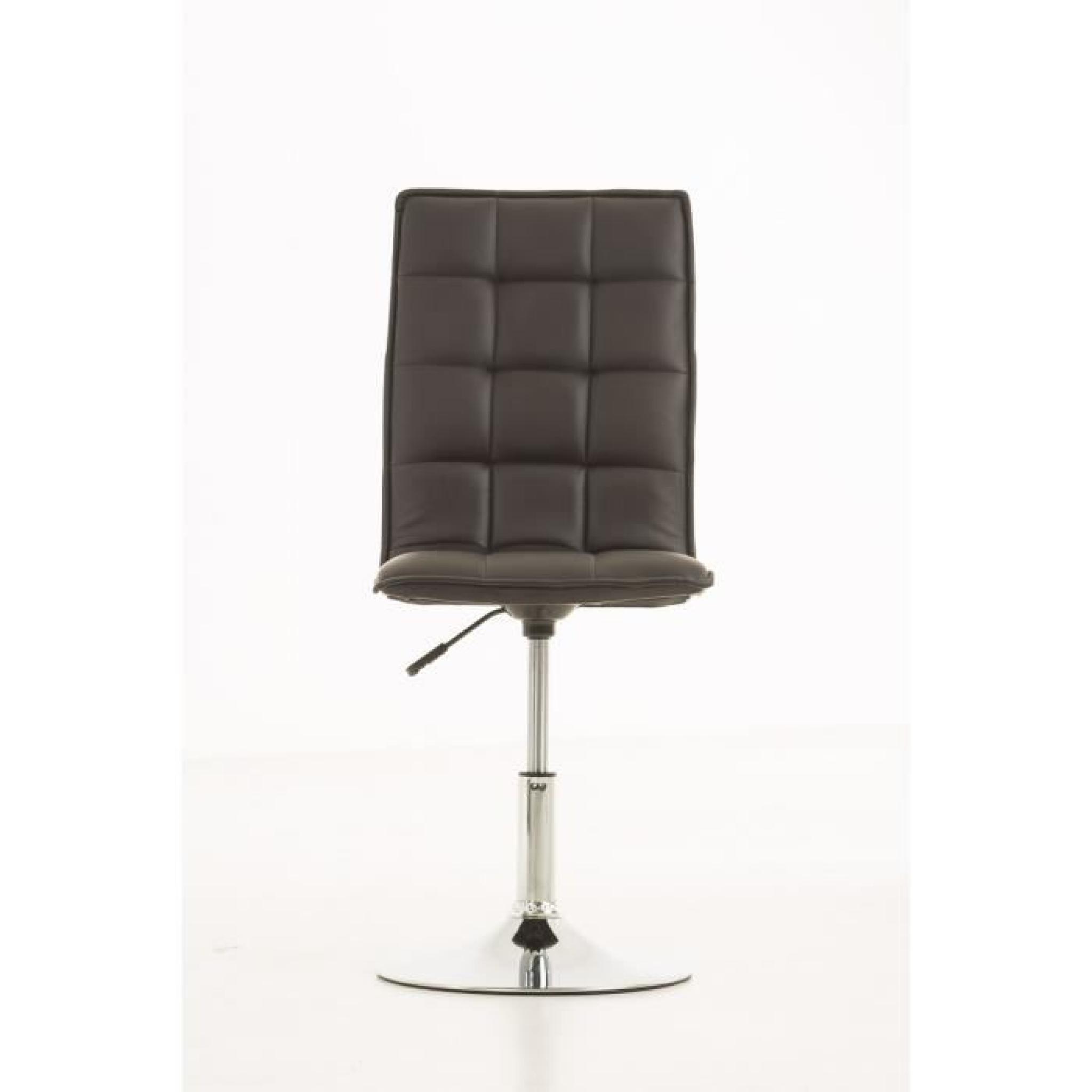 clp chaise de salle manger r glable en hauteur peking avec pi tement en chrome optique. Black Bedroom Furniture Sets. Home Design Ideas