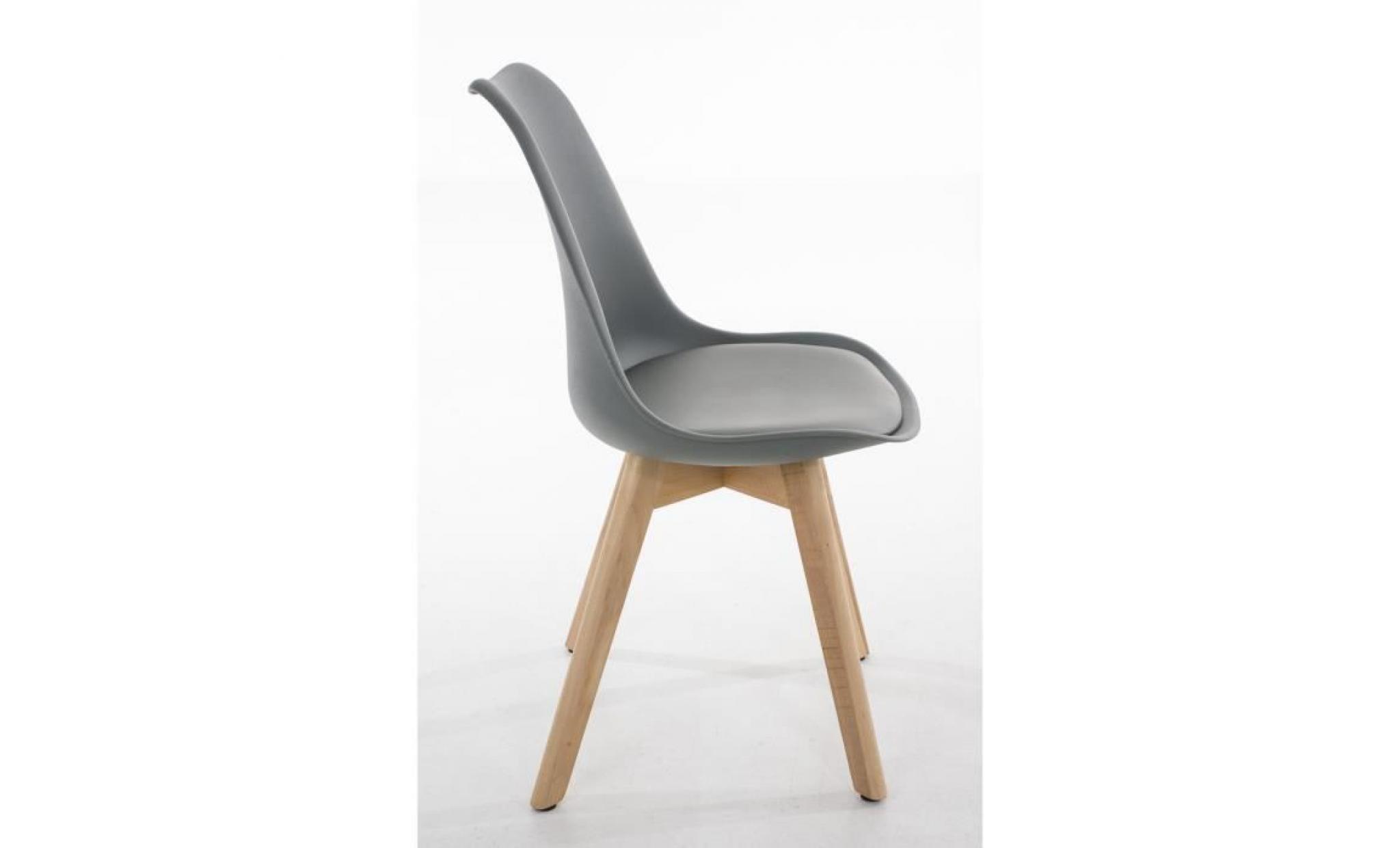 Clp chaise de visiteurs de design r tro borneo avec pi tement en bois noix m lange de mat riaux - Chaises visiteurs design ...
