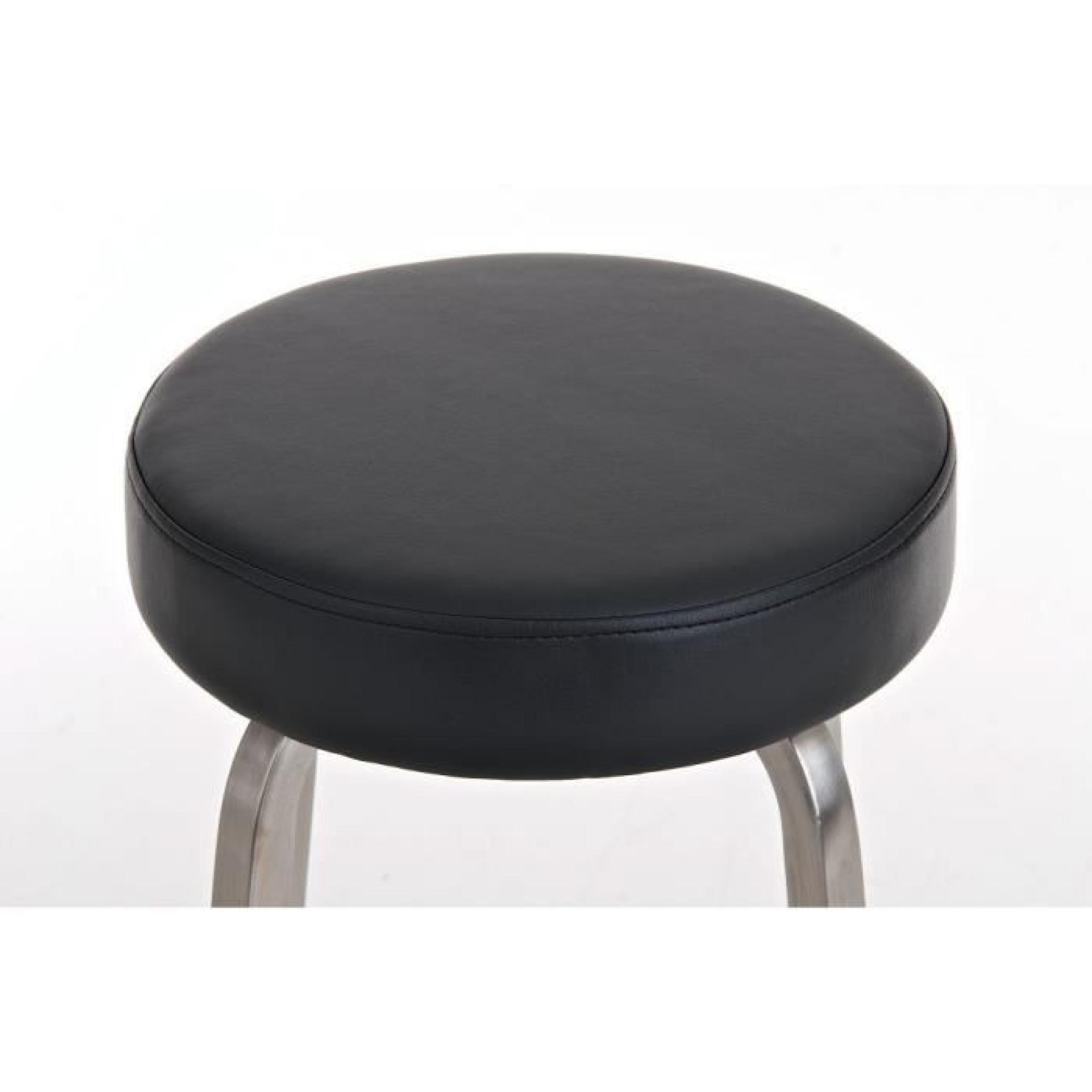 Clp rond en acier inoxydable tabouret kamari hauteur d for Table cuisine hauteur 85 cm