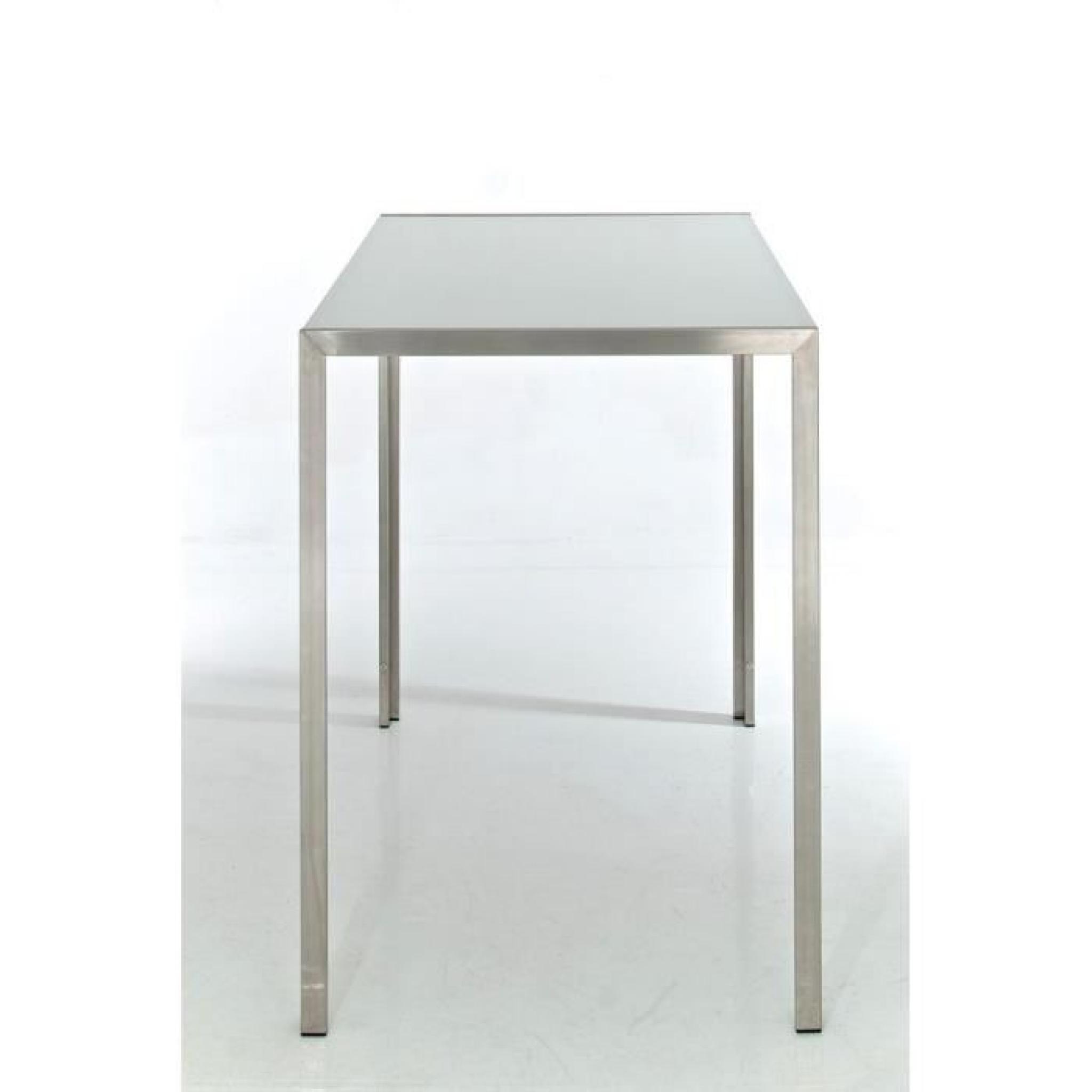 clp table haute massive salvador, avec plateau en verre de 5 mm