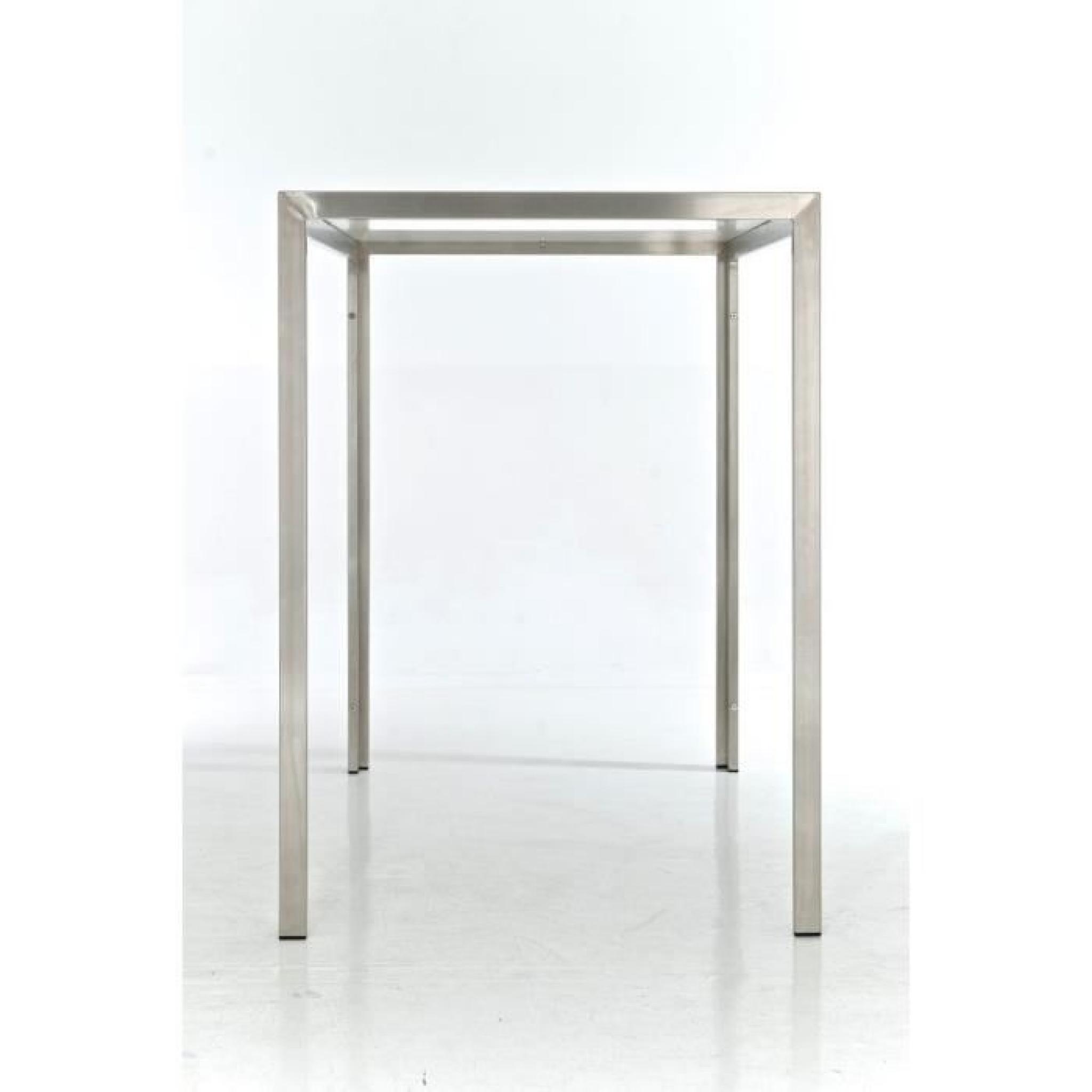 CLP Table haute massive SALVADOR, avec plateau en verre de 5 mm ...
