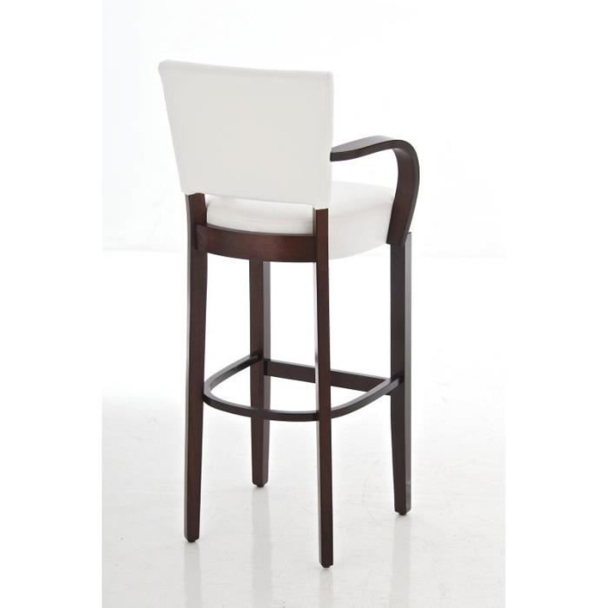 clp tabouret de bar rembourr lionel avec accoudoirs en bois et un rev tement en pu 5 couleurs. Black Bedroom Furniture Sets. Home Design Ideas