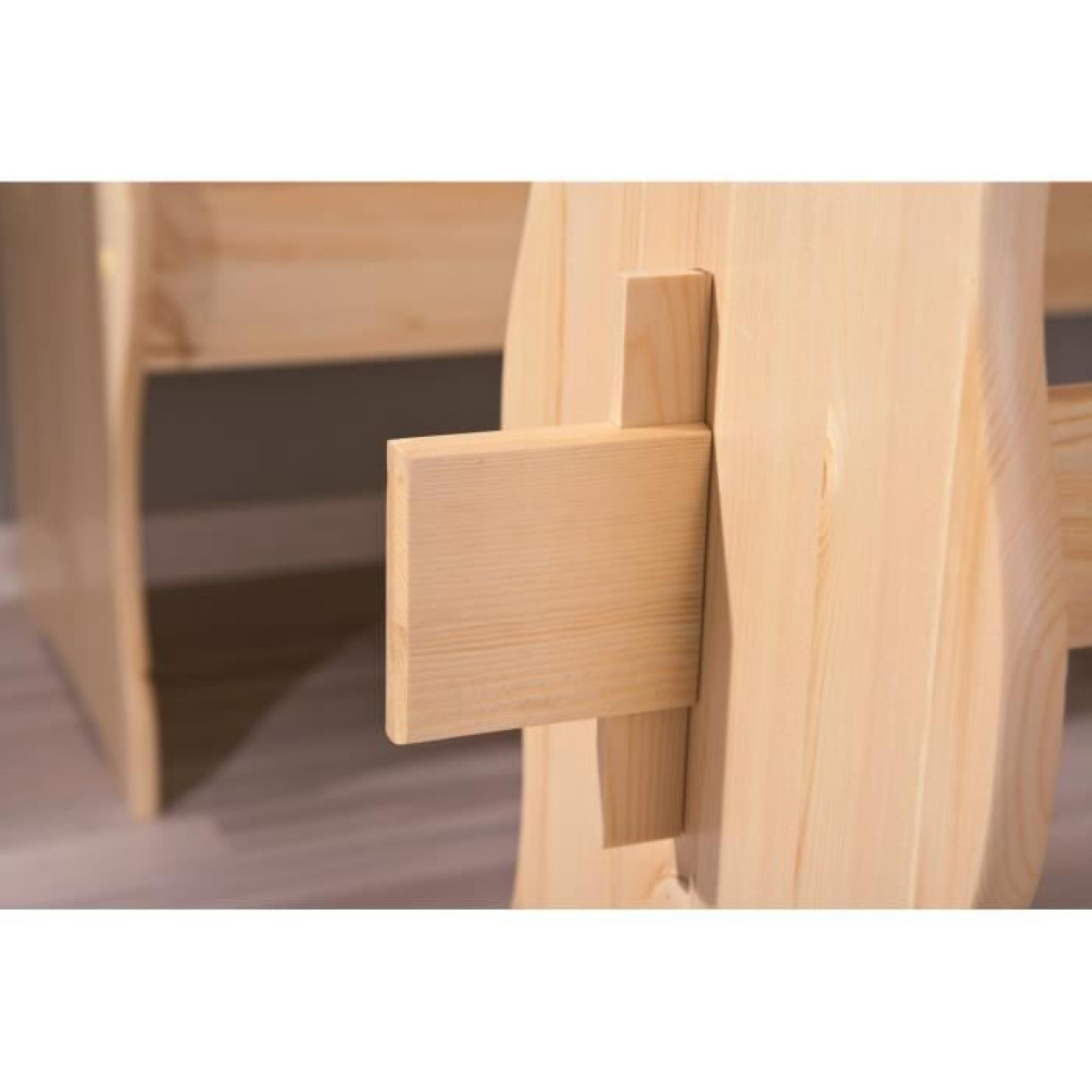 coin repas d 39 angle avec table et chaises pin massif achat vente ensemble salle a manger pas. Black Bedroom Furniture Sets. Home Design Ideas