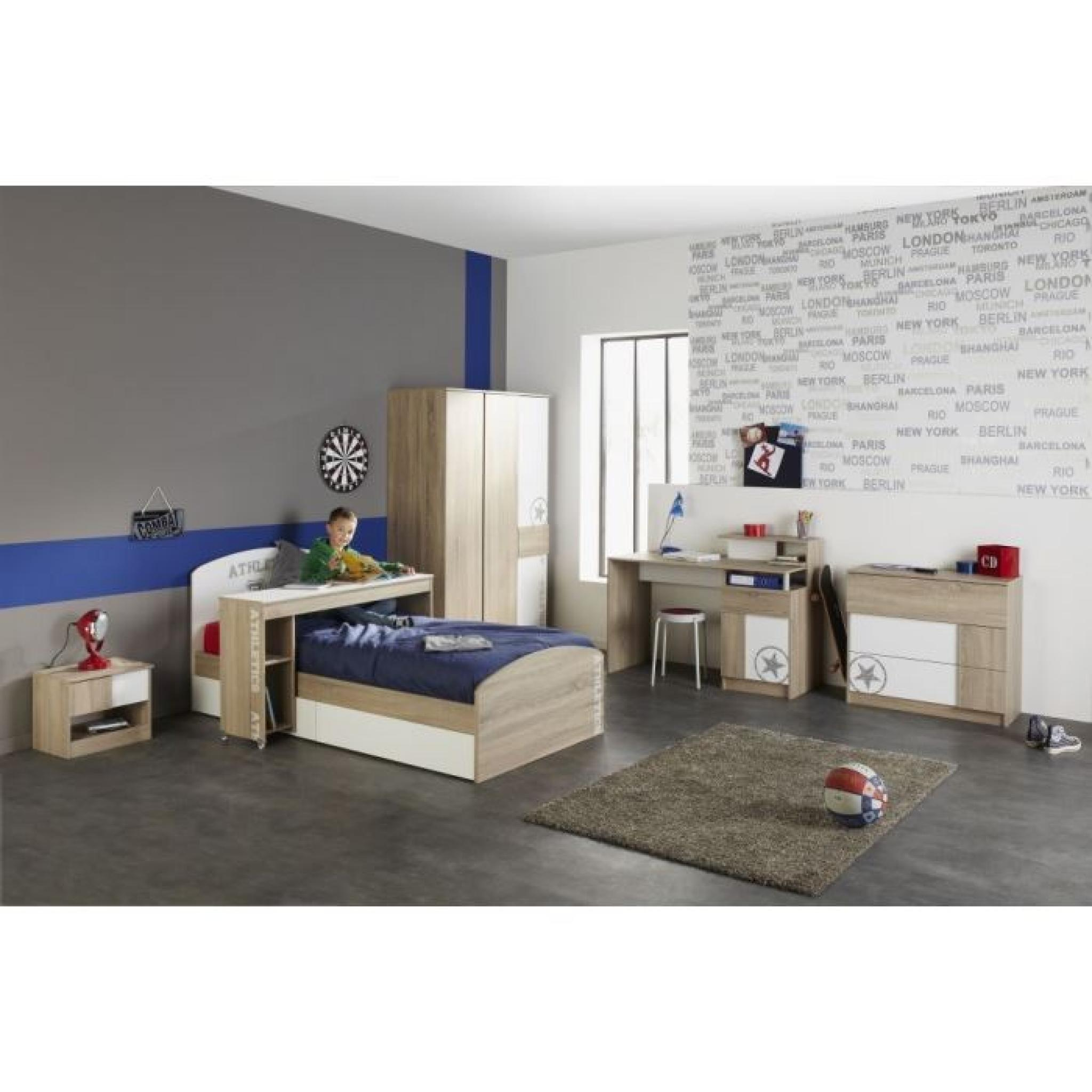 college chambre compl te enfant ch ne blanc achat vente chambre complete pas cher couleur. Black Bedroom Furniture Sets. Home Design Ideas