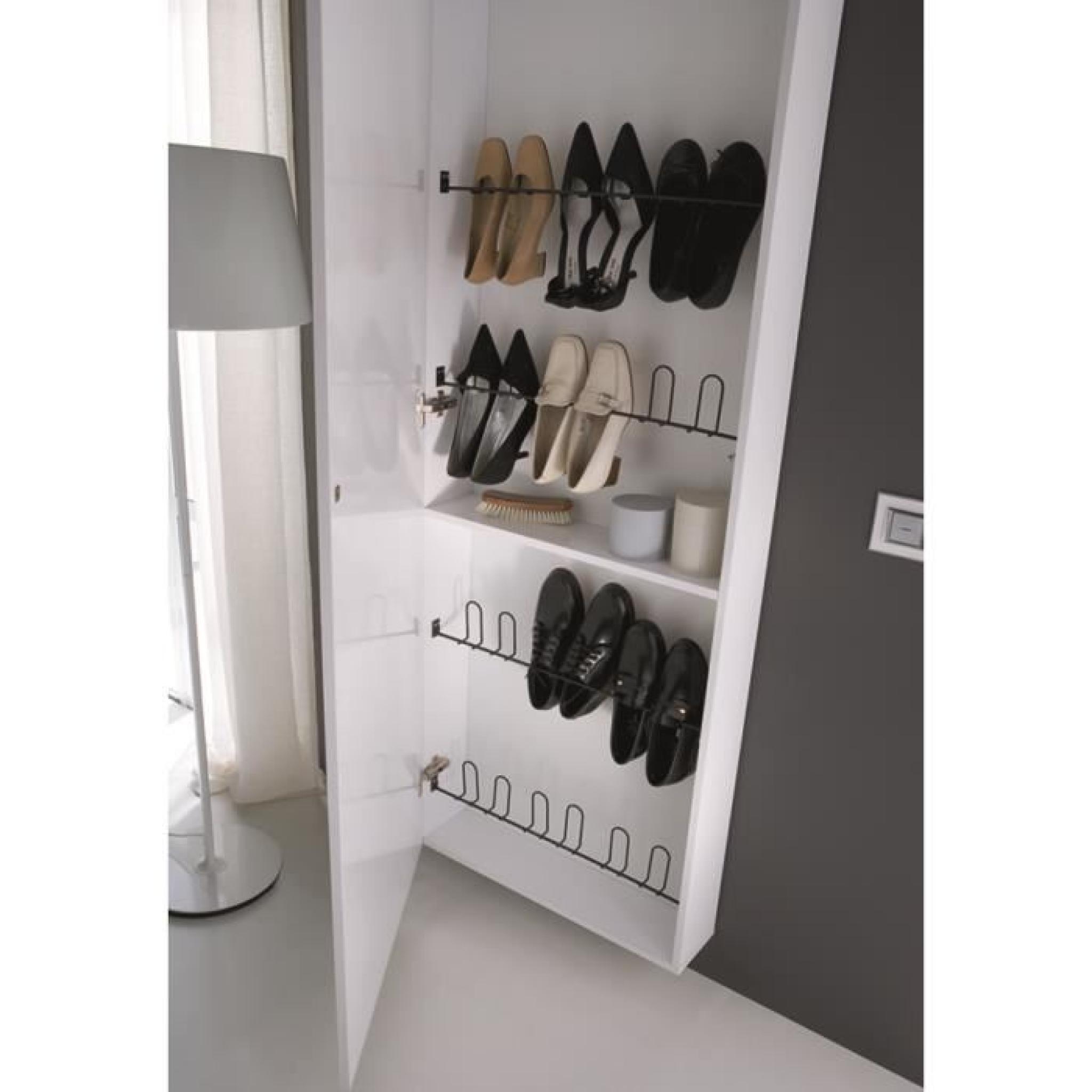 Colonne chaussures blanc avec 5 tringles 15 achat vente meuble chaussu - Colonne a chaussures ...