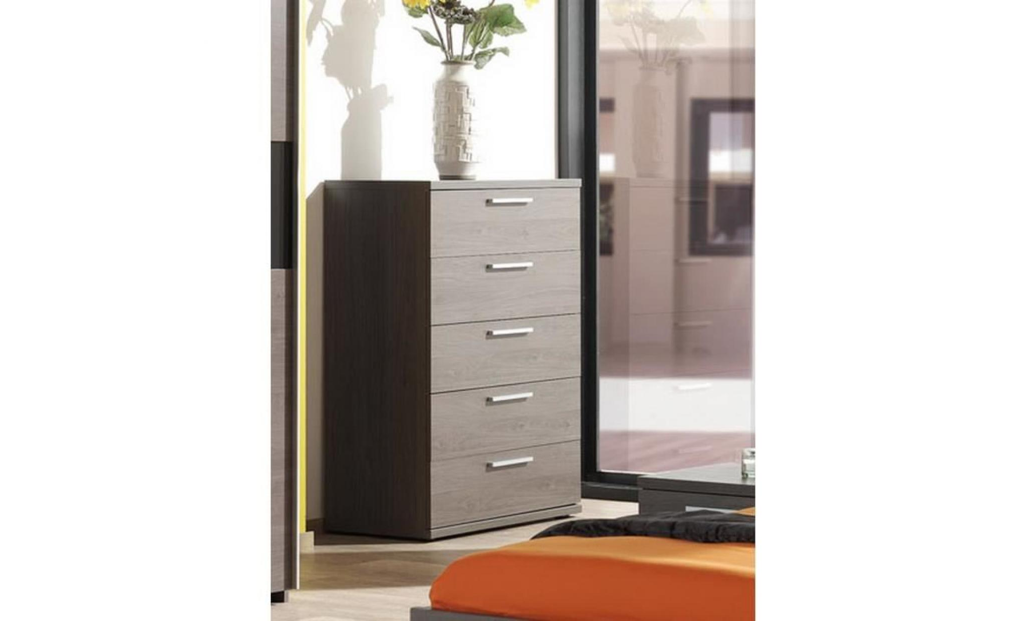 commode adulte couleur ch ne bergerac 5 tiroirs achat vente commode pas cher couleur et. Black Bedroom Furniture Sets. Home Design Ideas