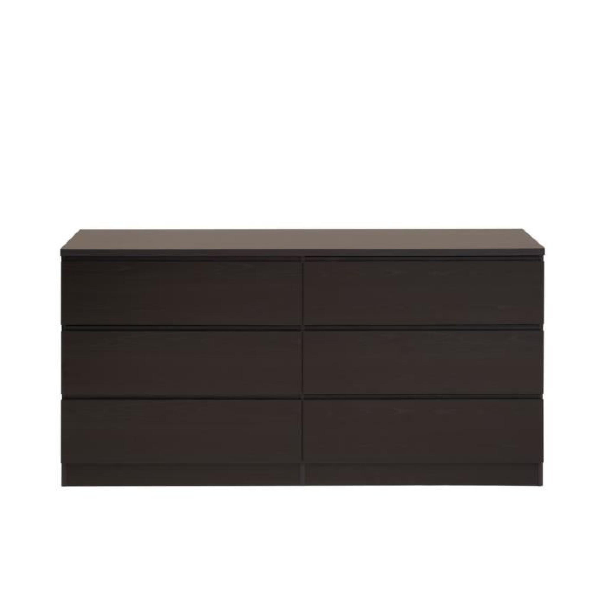 commode armance 6 tiroirs coloris weng achat vente. Black Bedroom Furniture Sets. Home Design Ideas