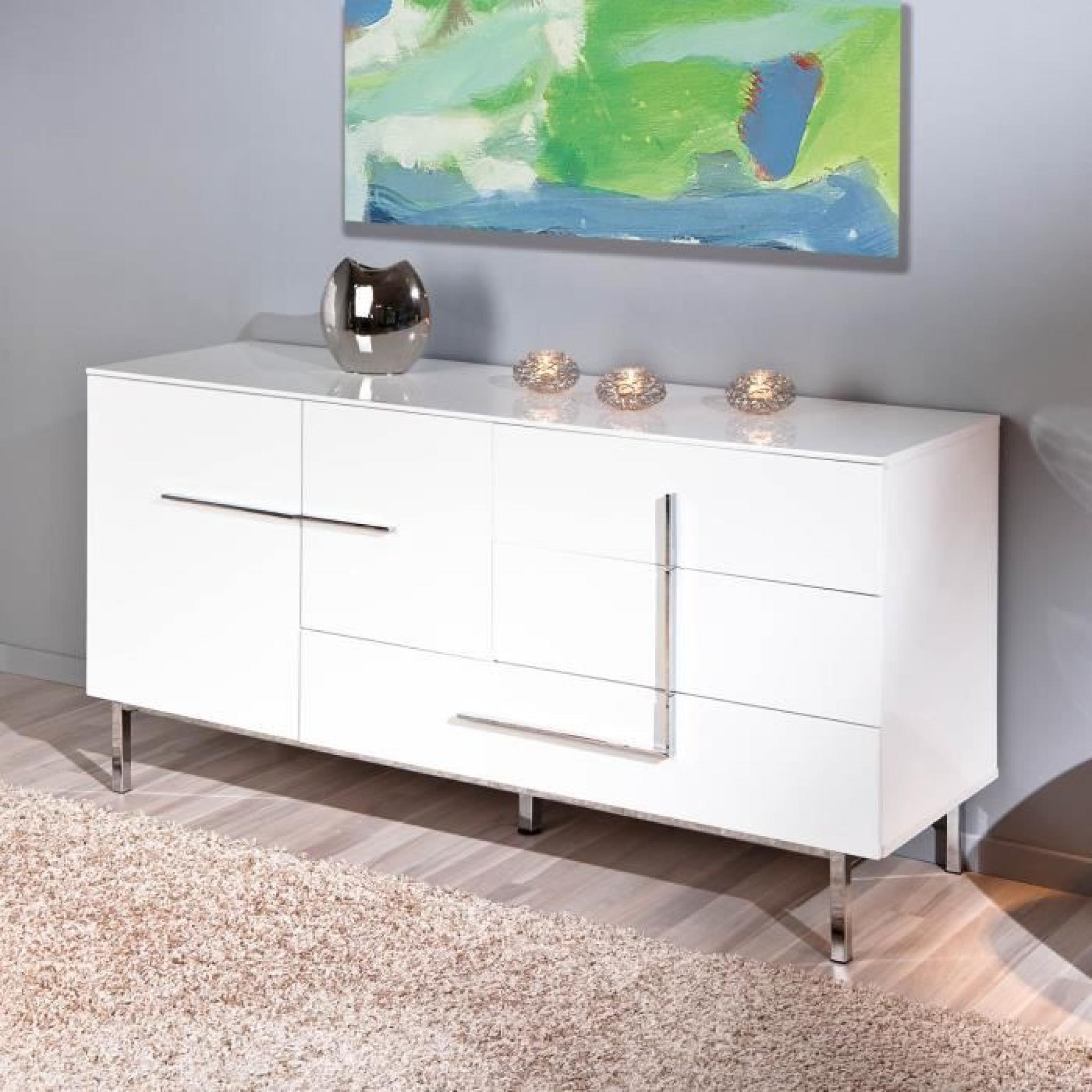 Commode Buffet Bahut Bas Moderne Design 2 Porte
