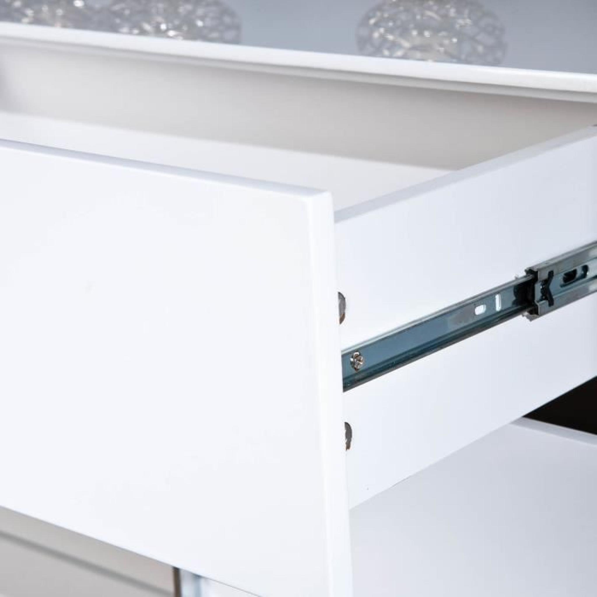 commode buffet bahut bas moderne design 2 porte achat. Black Bedroom Furniture Sets. Home Design Ideas