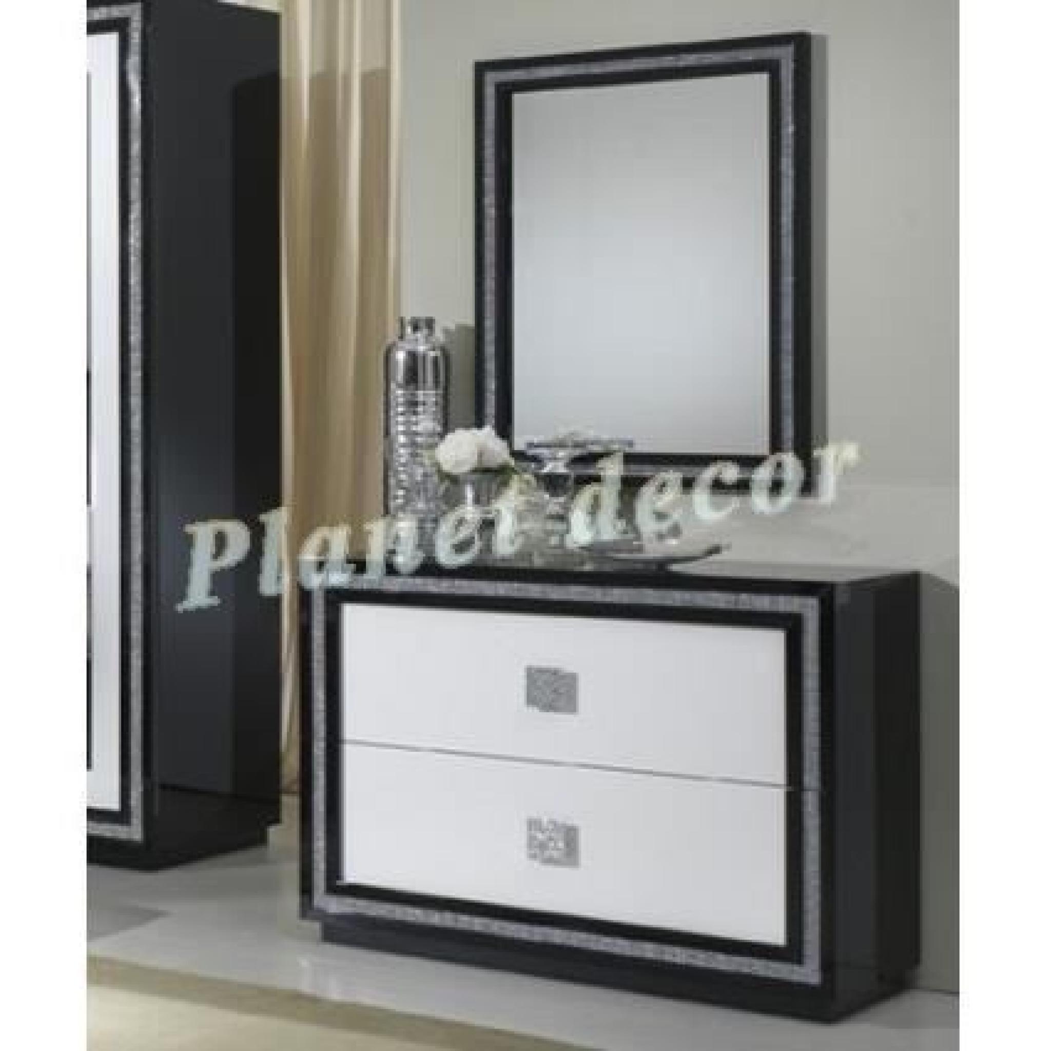 Commode chambre adulte KRYSTEL (sans miroir)