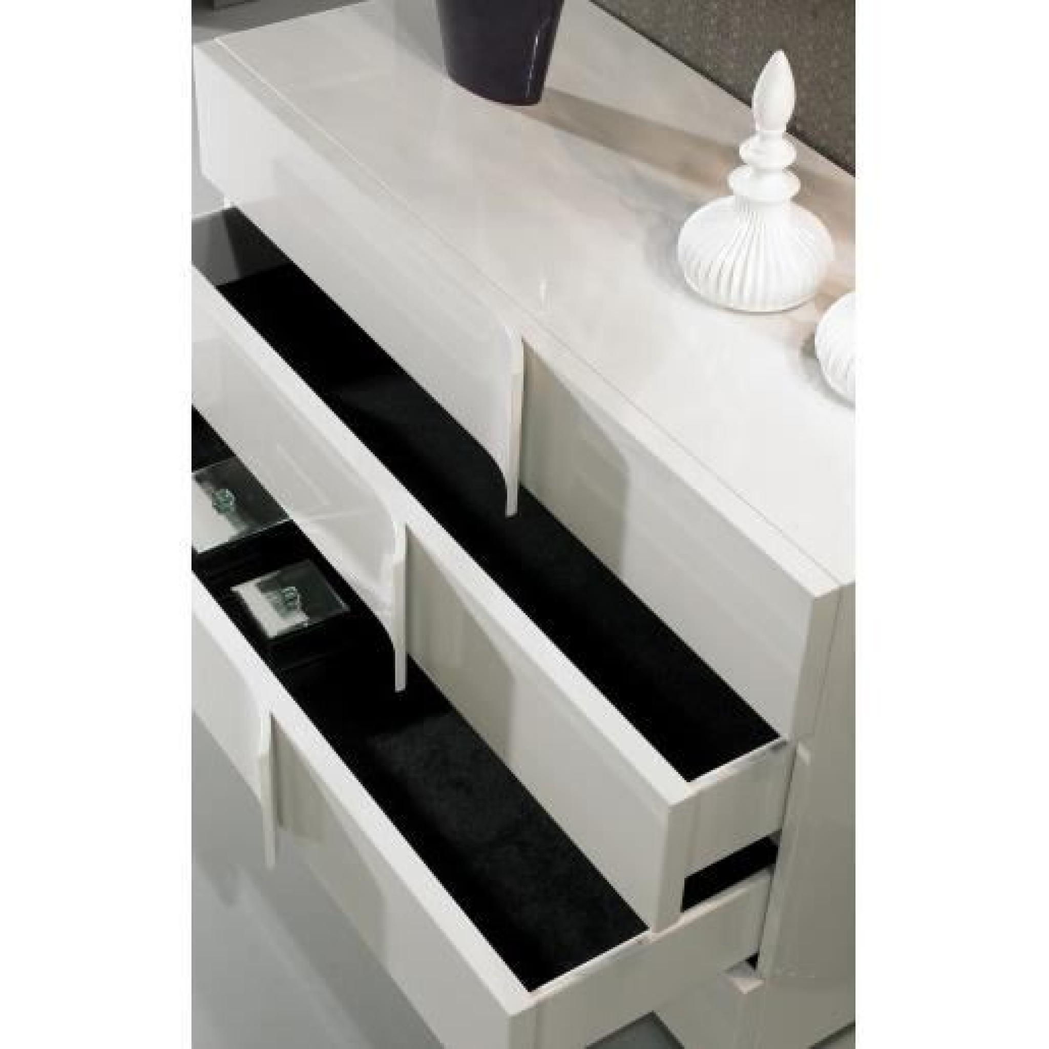 commode design blanc laqu 4 tiroirs ue achat vente commode pas cher couleur et