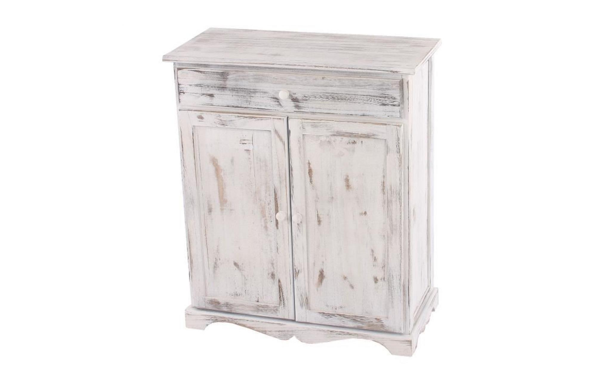 Commode / table d'appoint / armoire, 66x33x78cm, shabby, vintage, marron
