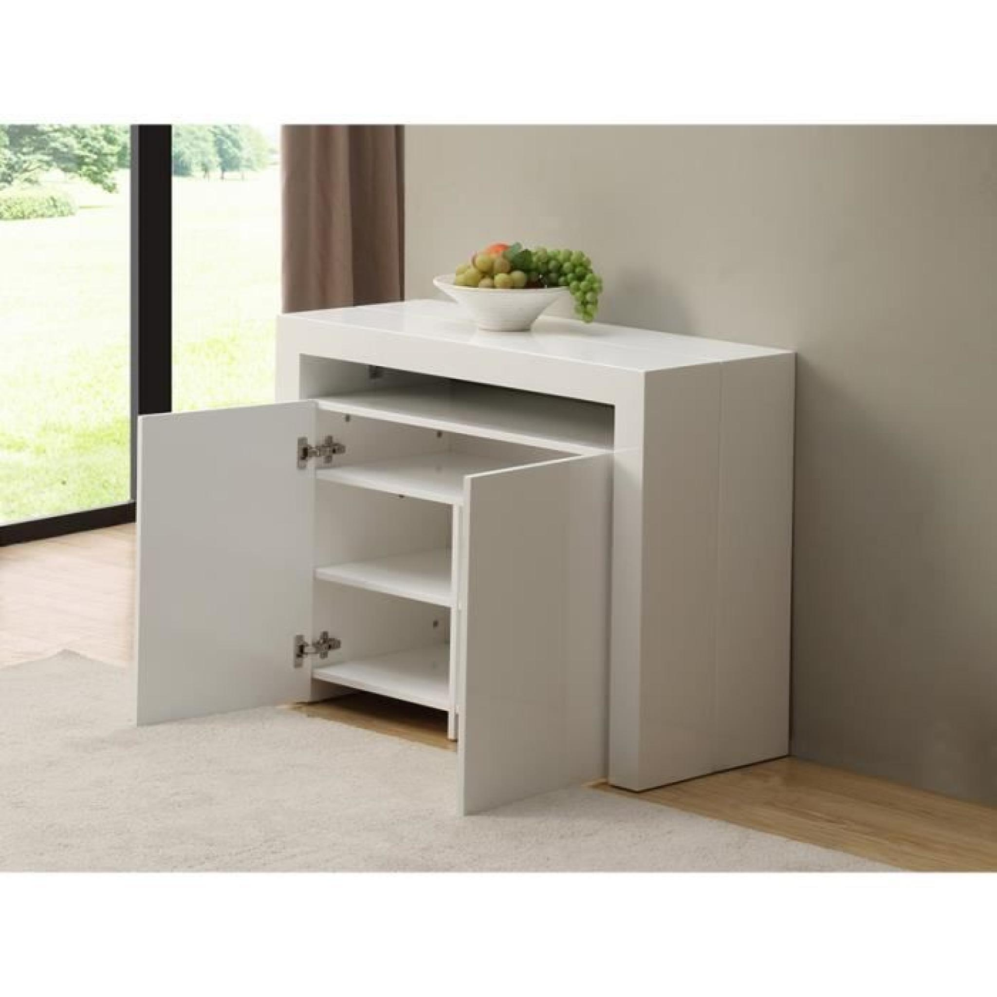 console buffet extensible strat ge 3 rallonge achat. Black Bedroom Furniture Sets. Home Design Ideas