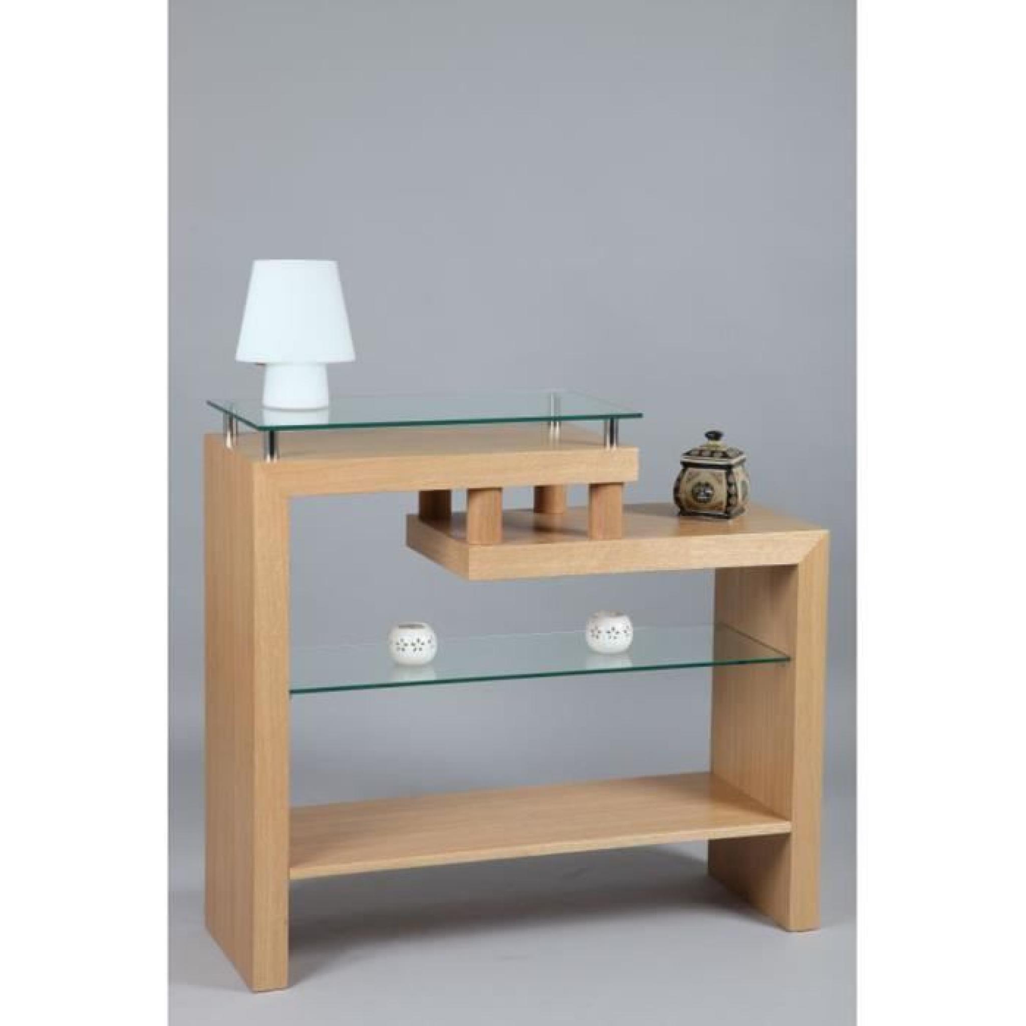 console d 39 entr e en plaqu de ch ne achat vente console. Black Bedroom Furniture Sets. Home Design Ideas