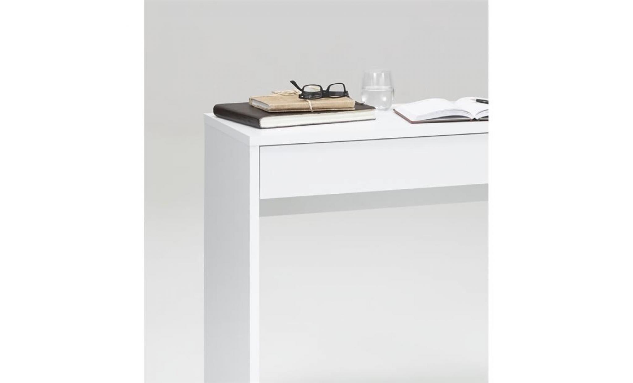 console d 39 entr e checker blanche achat vente console meuble pas cher couleur et. Black Bedroom Furniture Sets. Home Design Ideas