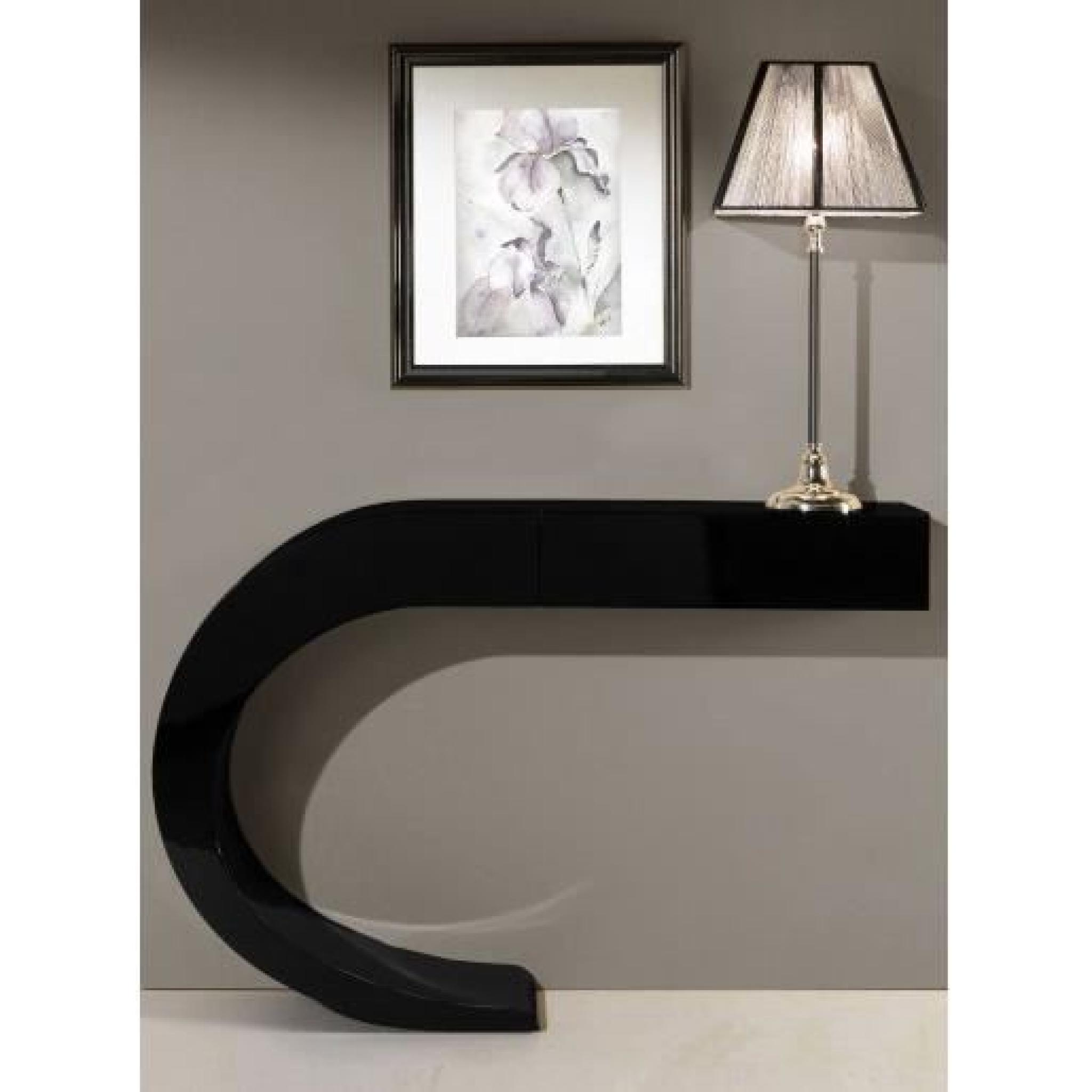console design a rien noir laqu 1t ue achat vente console meuble pas cher couleur et. Black Bedroom Furniture Sets. Home Design Ideas