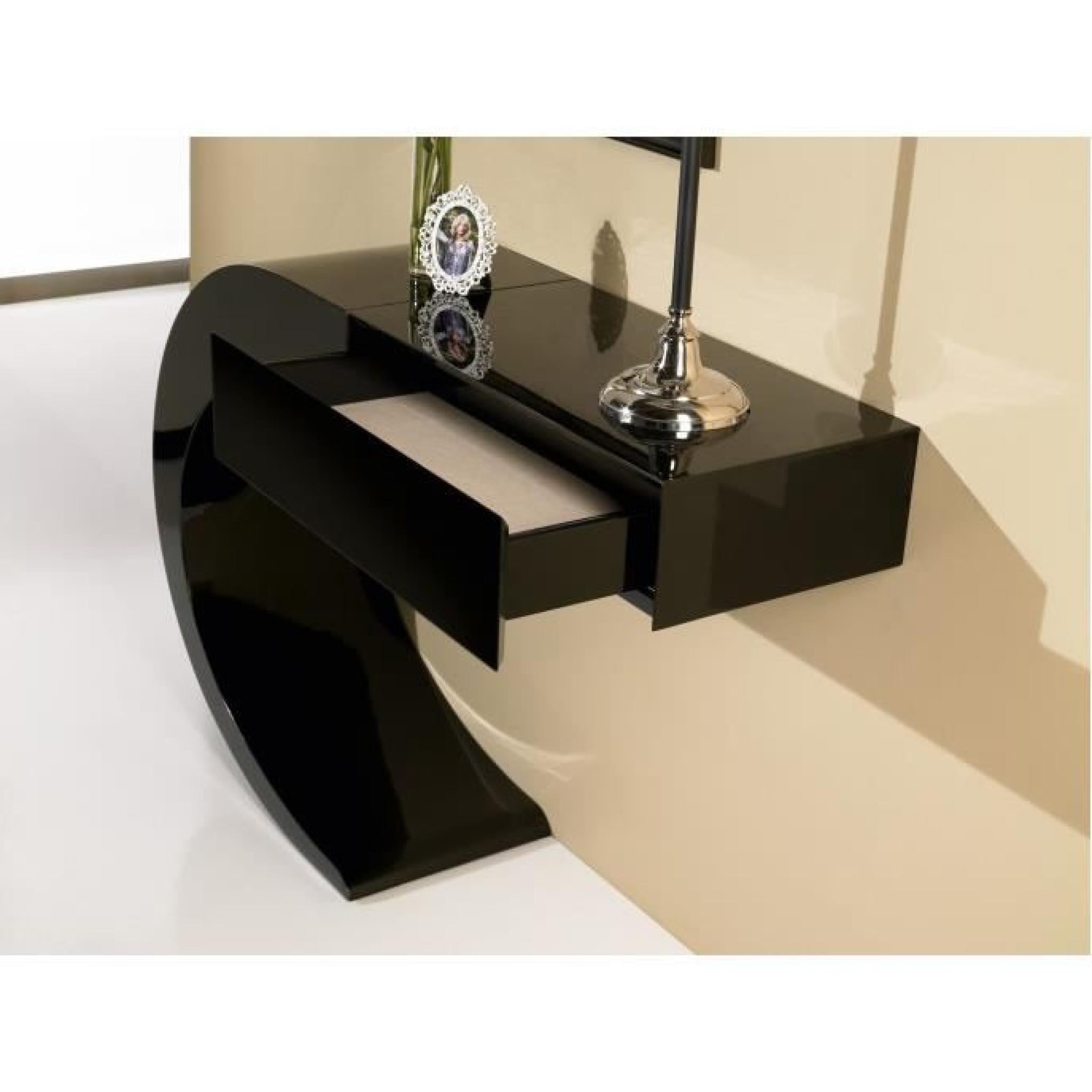 console design a rien noir laqu 1t ue achat vente console meuble pas cher couleur et. Black Bedroom Furniture Sets. Home Design Ideas
