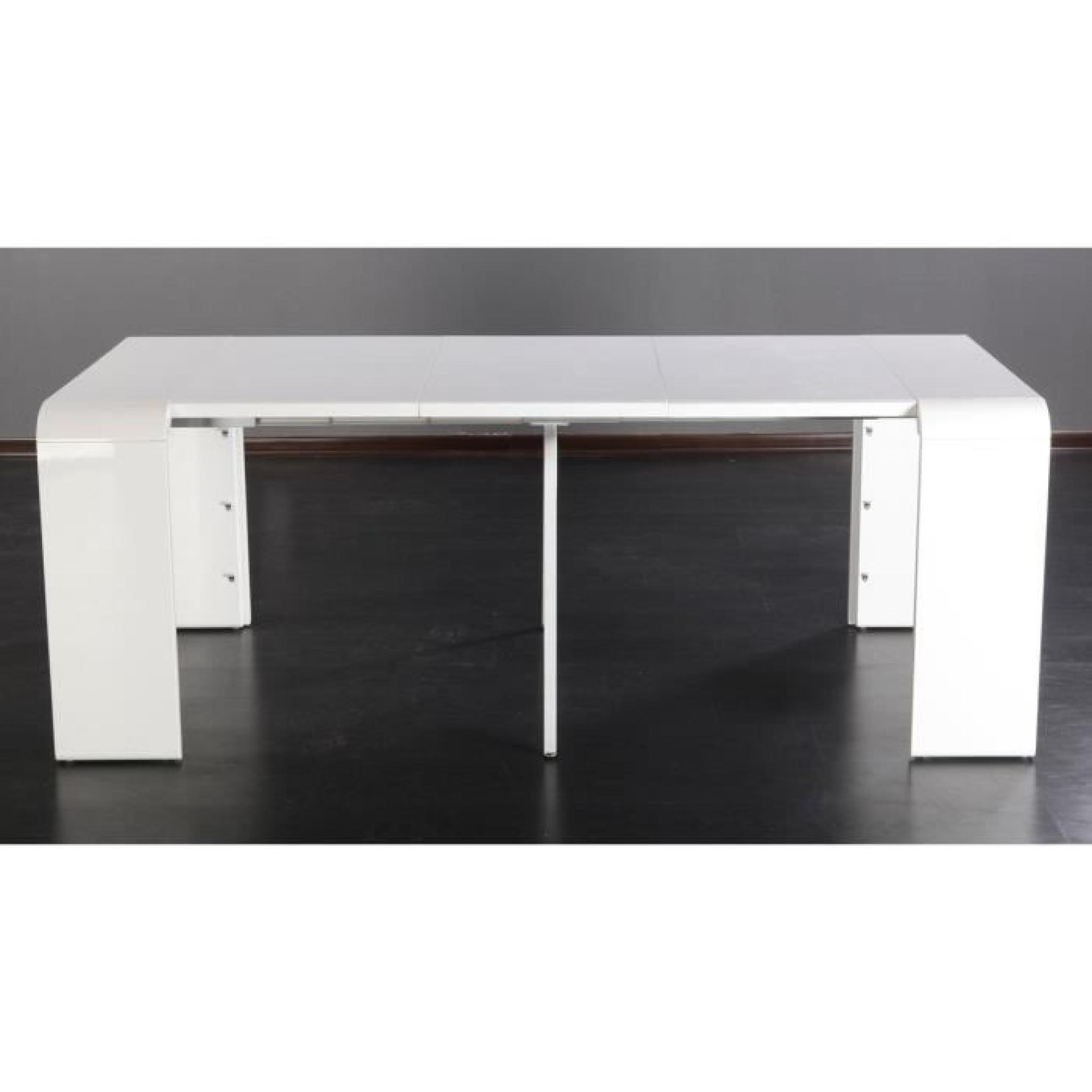 Console Extensible Laque Blanc Extansia Achat Vente Ensemble Salle