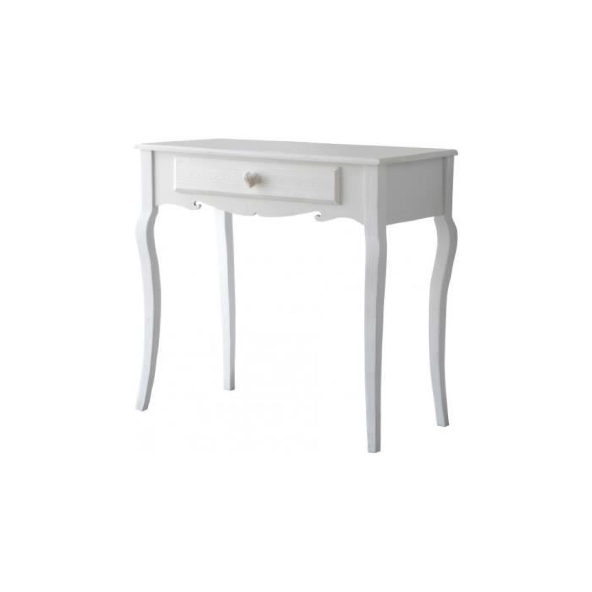 console pin massif blanc 1 tiroir pieds galb s achat. Black Bedroom Furniture Sets. Home Design Ideas