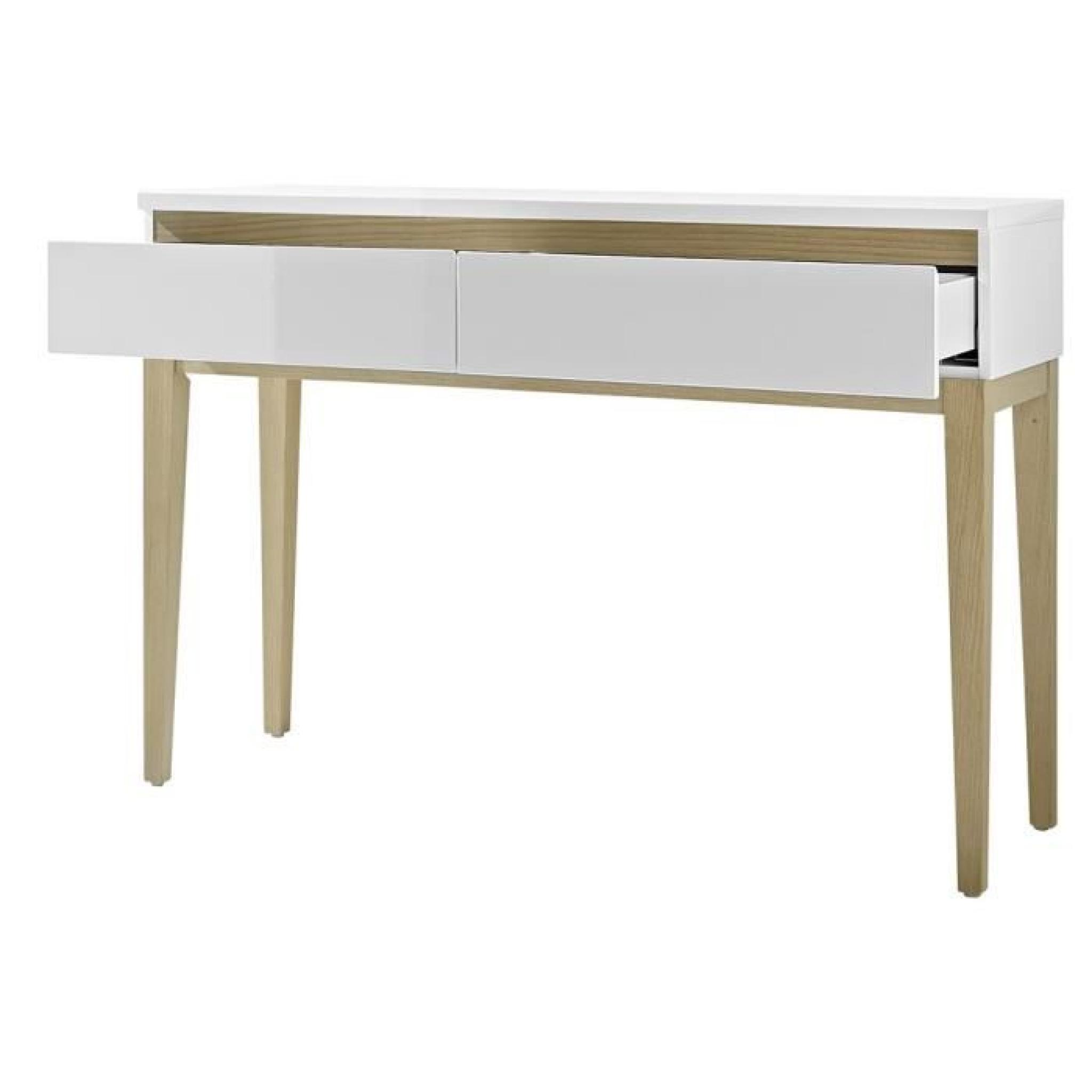 console riva blanc laqu achat vente console meuble pas cher couleur et. Black Bedroom Furniture Sets. Home Design Ideas