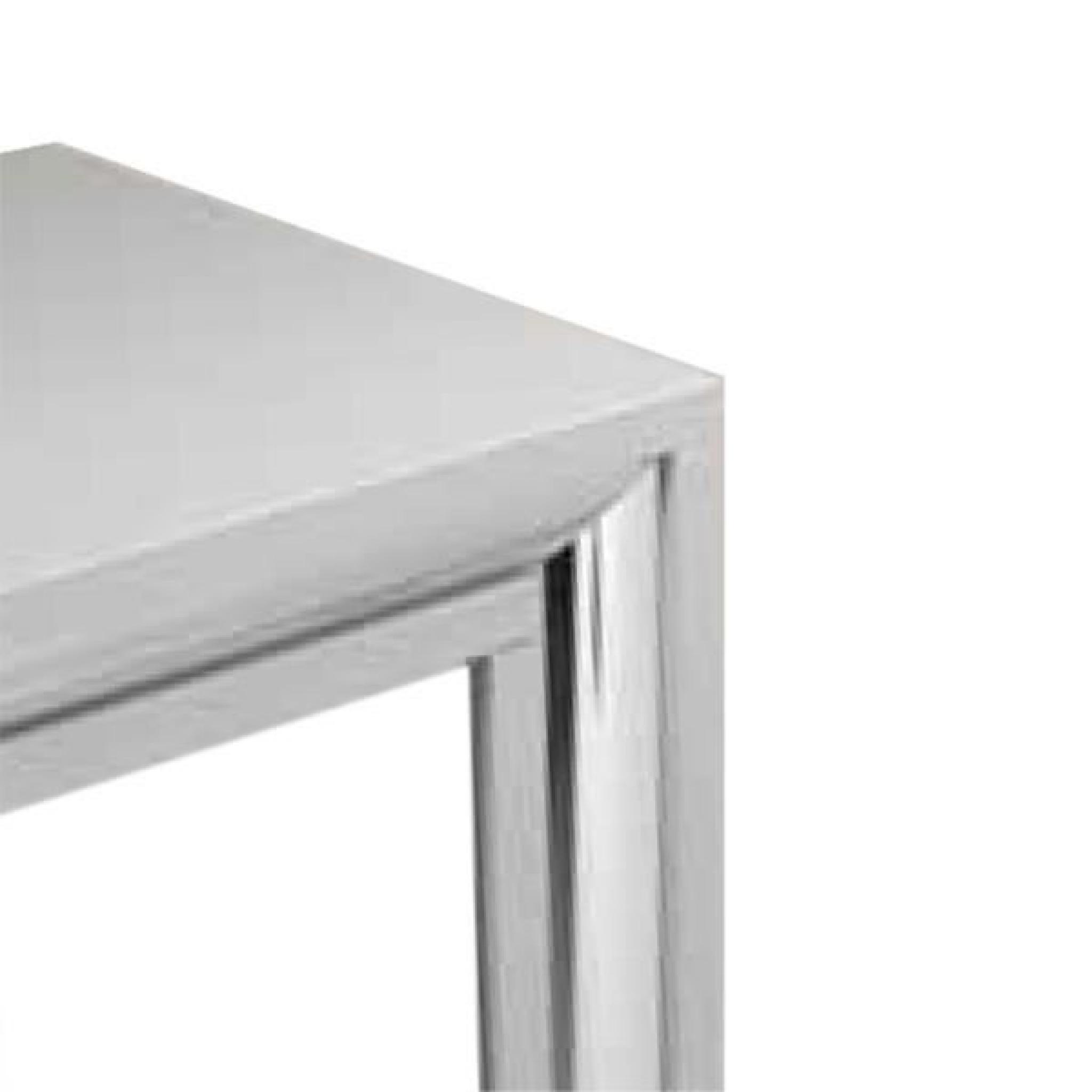 console syra bois gris insert chrom achat vente console. Black Bedroom Furniture Sets. Home Design Ideas