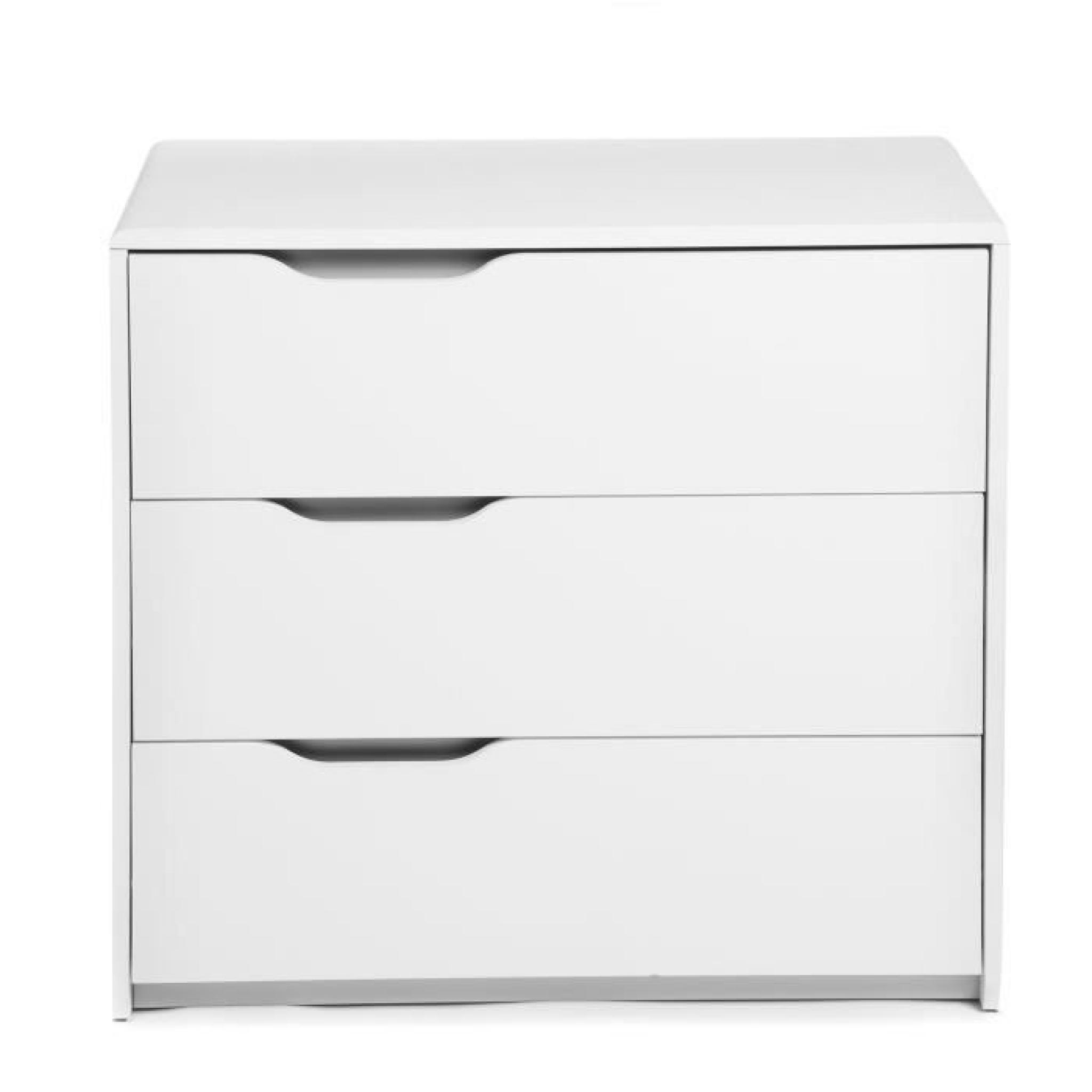 cool commode blanche 3 tiroirs achat vente commode pas cher couleur et. Black Bedroom Furniture Sets. Home Design Ideas