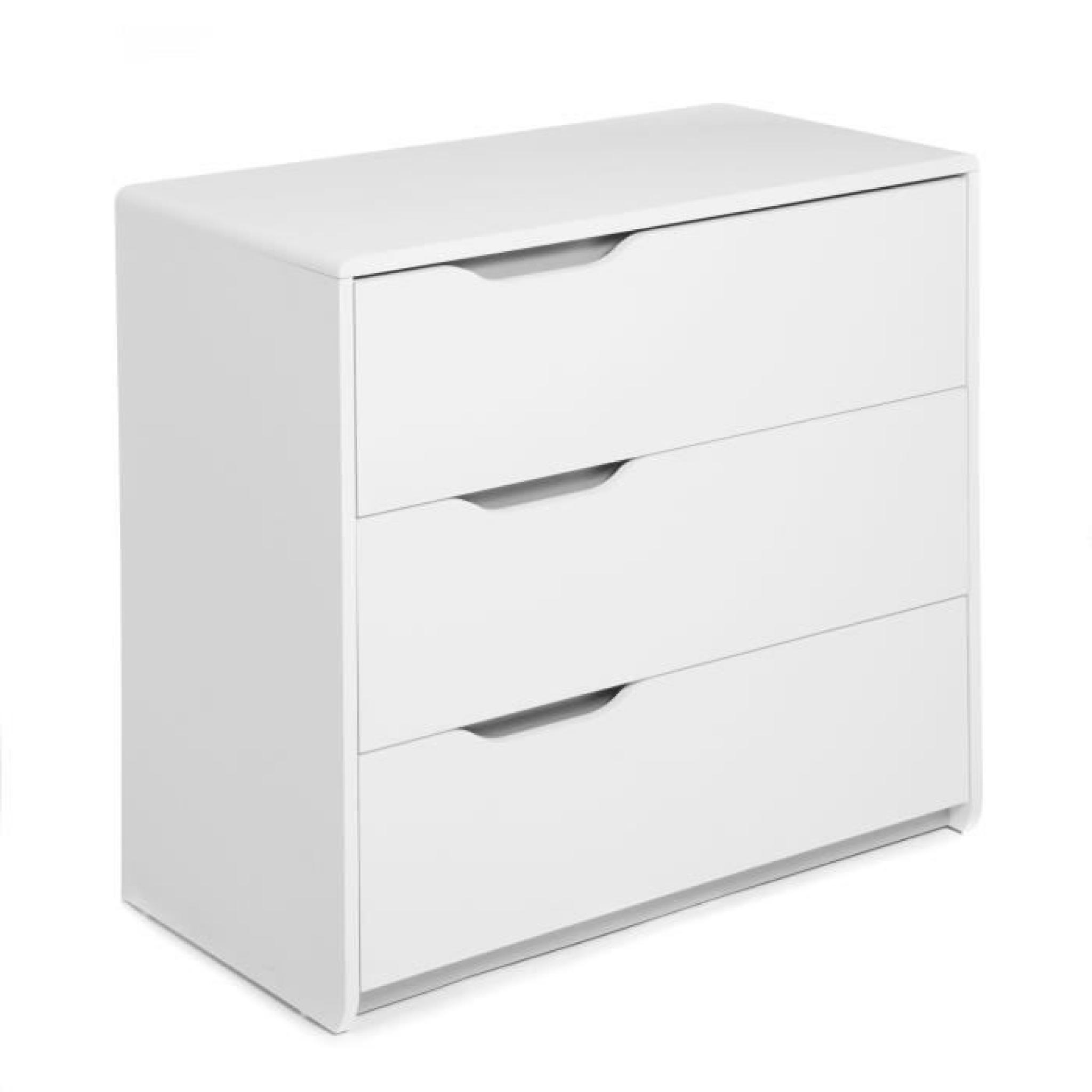 Cool commode blanche 3 tiroirs achat vente commode pas - Achat commode pas cher ...