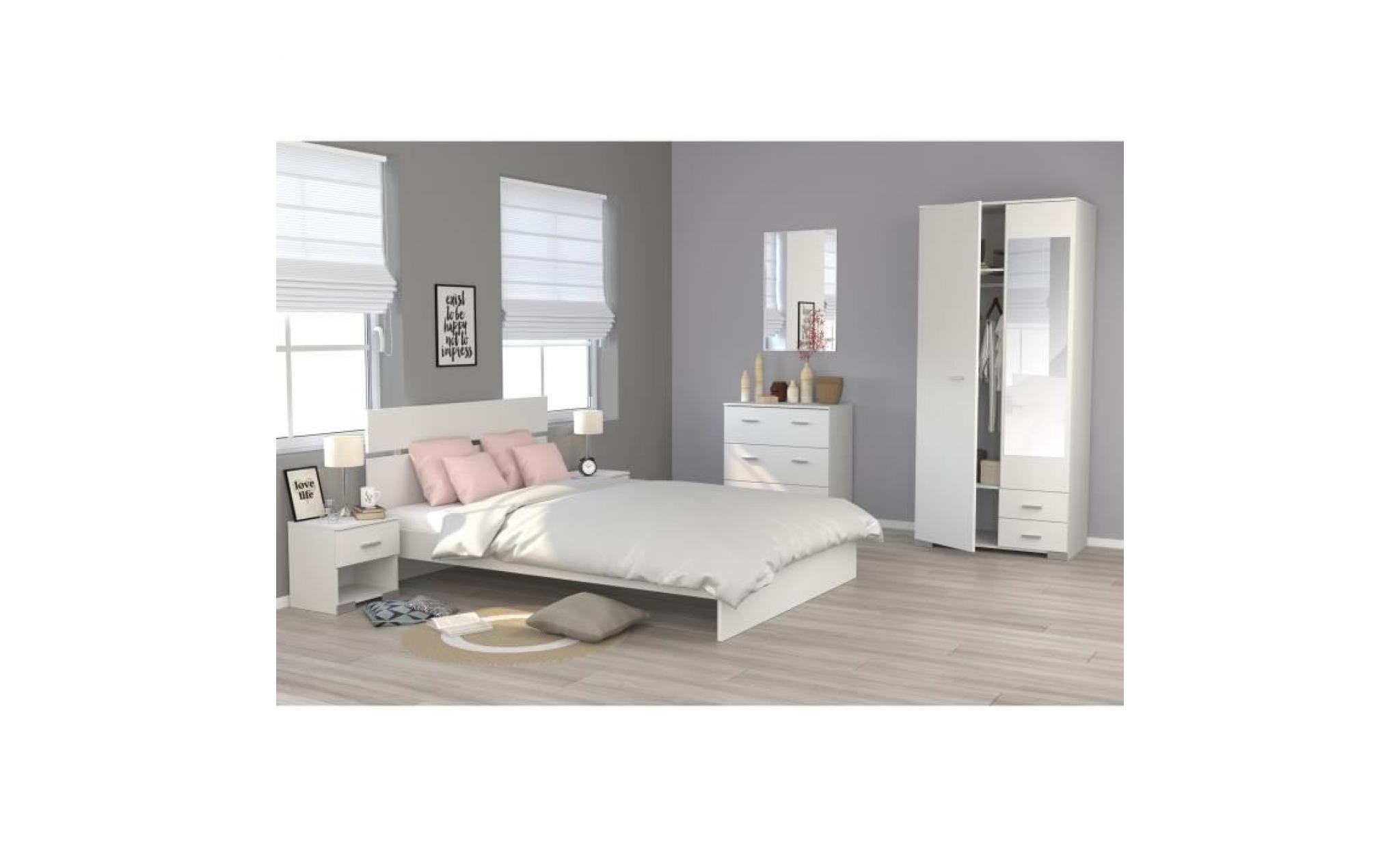 cosmos commode de chambre style contemporain décor blanc l 76,5 cm