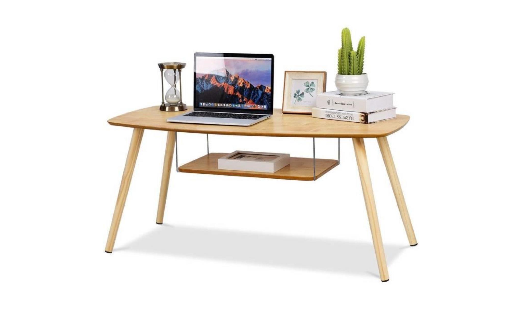costway table basse en bois table d\'appoint 15mm mdf table basse de ...