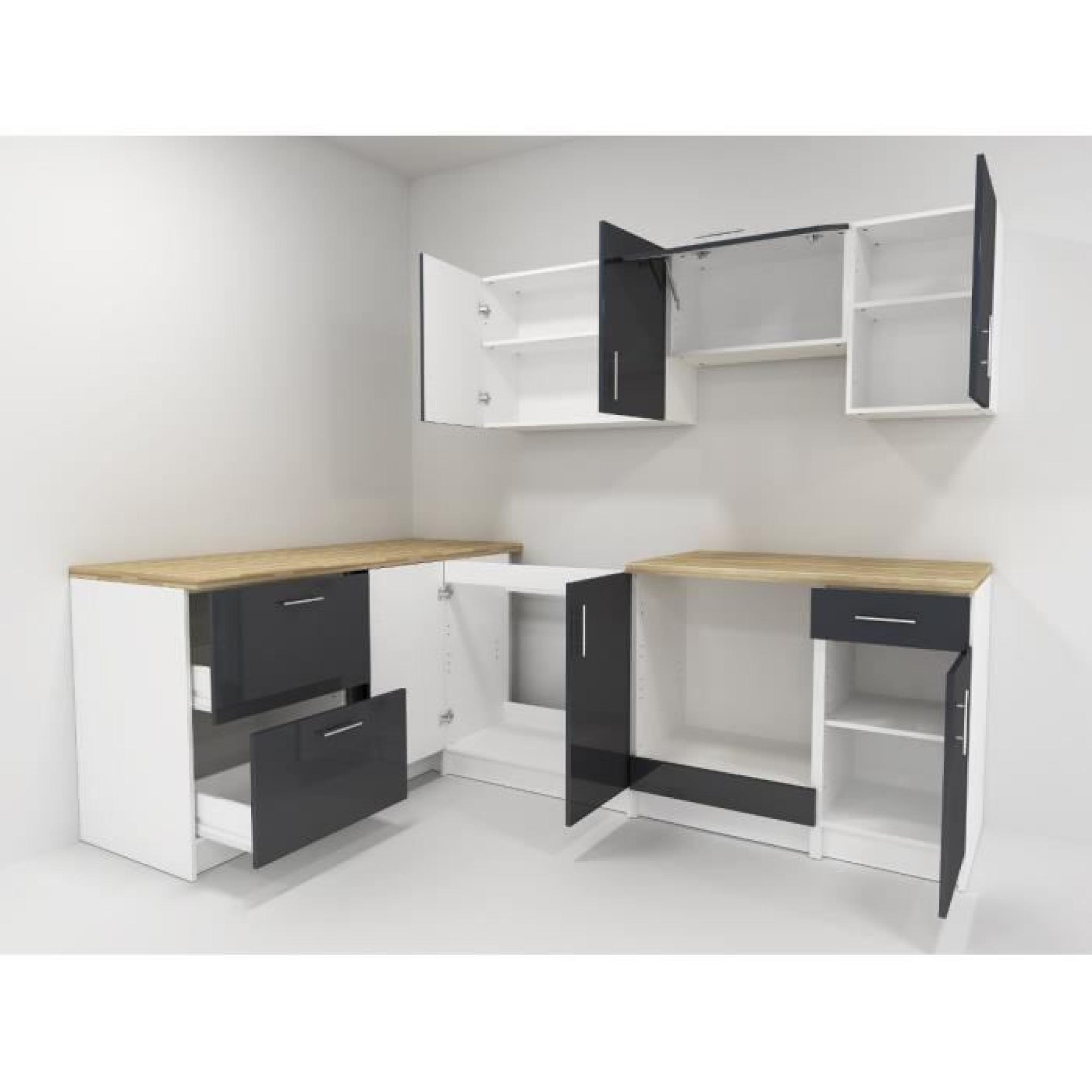cosy cuisine compl te 2m80 laqu gris achat vente cuisine complete pas cher couleur et. Black Bedroom Furniture Sets. Home Design Ideas