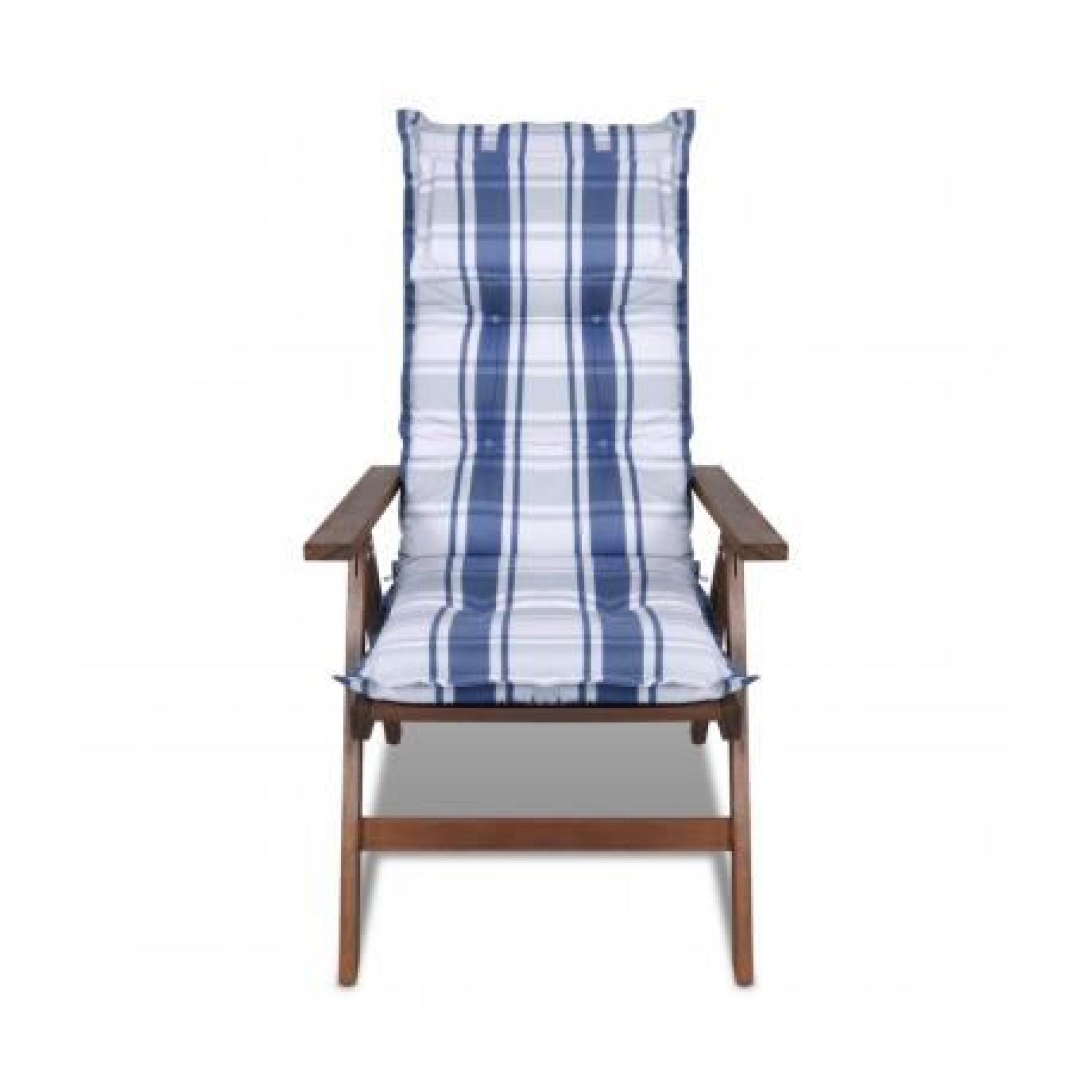 Coussin Pour Chaise De Jardin Bleu 8cm Depaiss Achat Vente