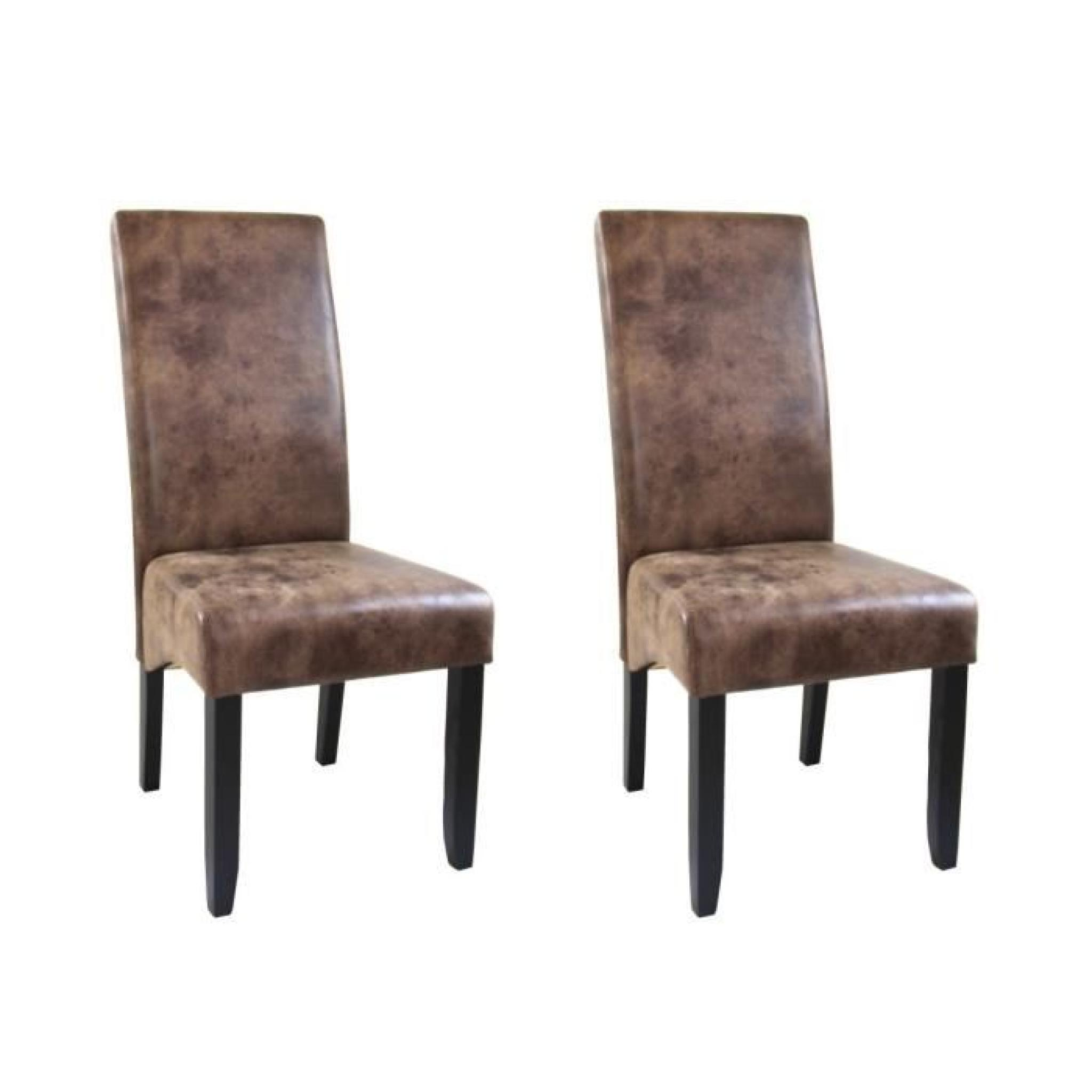 cuba lot de 2 chaises de salle manger style vintage achat vente chaise salle a manger pas. Black Bedroom Furniture Sets. Home Design Ideas