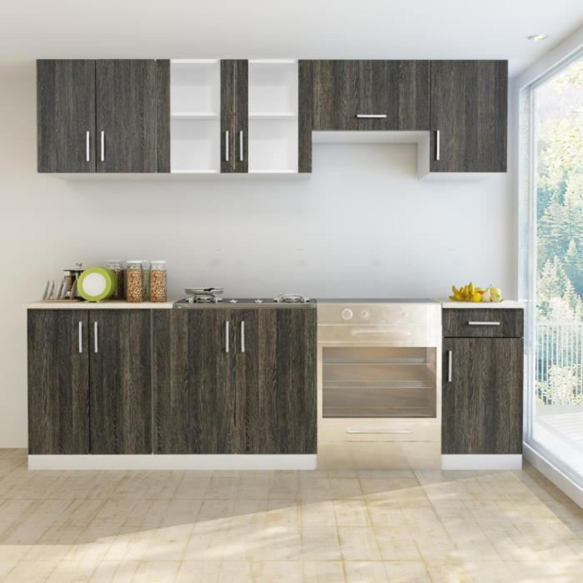 cuisine compl te 7 pi ces weng avec vier 80 x 60 cm achat vente cuisine complete pas cher. Black Bedroom Furniture Sets. Home Design Ideas